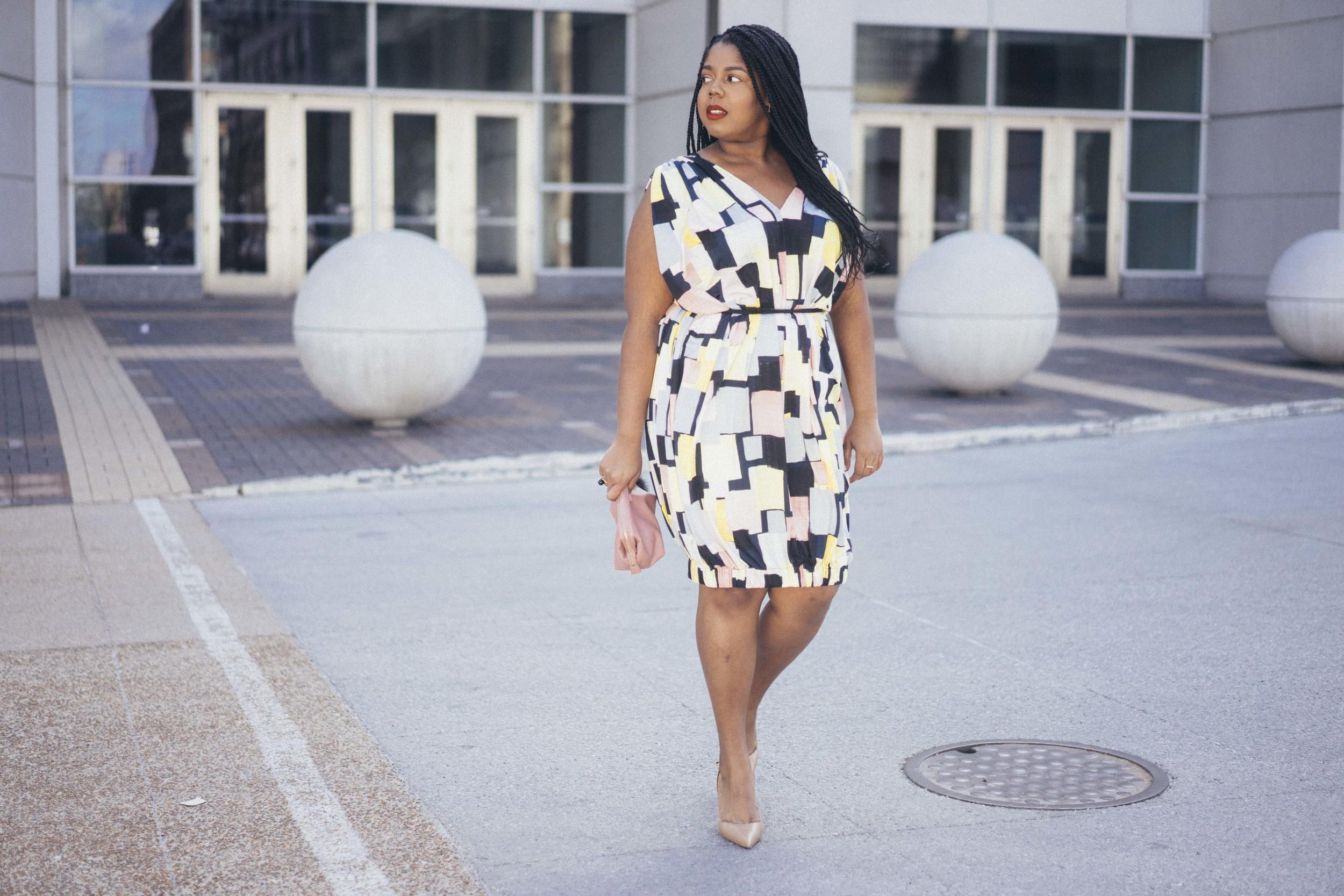 Beth Ditto Hayet Rida Print Bubble Dress Plus Size Blogger Style Chicago 6 copy.jpg