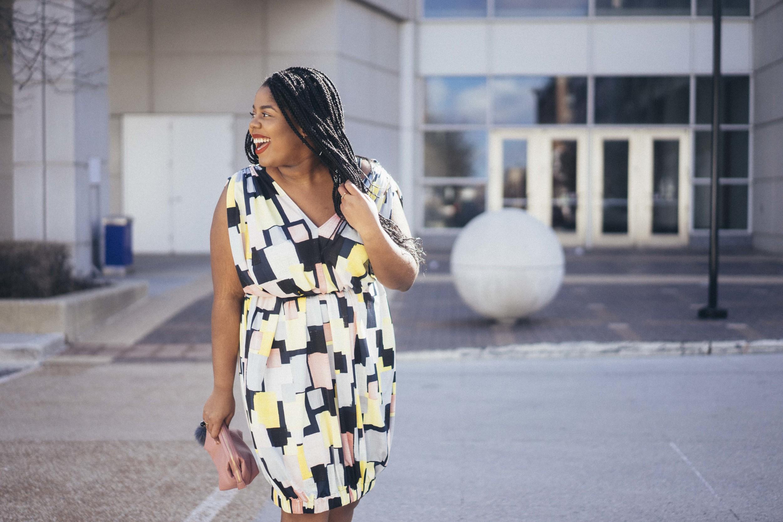 Beth Ditto Hayet Rida Print Bubble Dress Plus Size Blogger Style Chicago 7.jpg