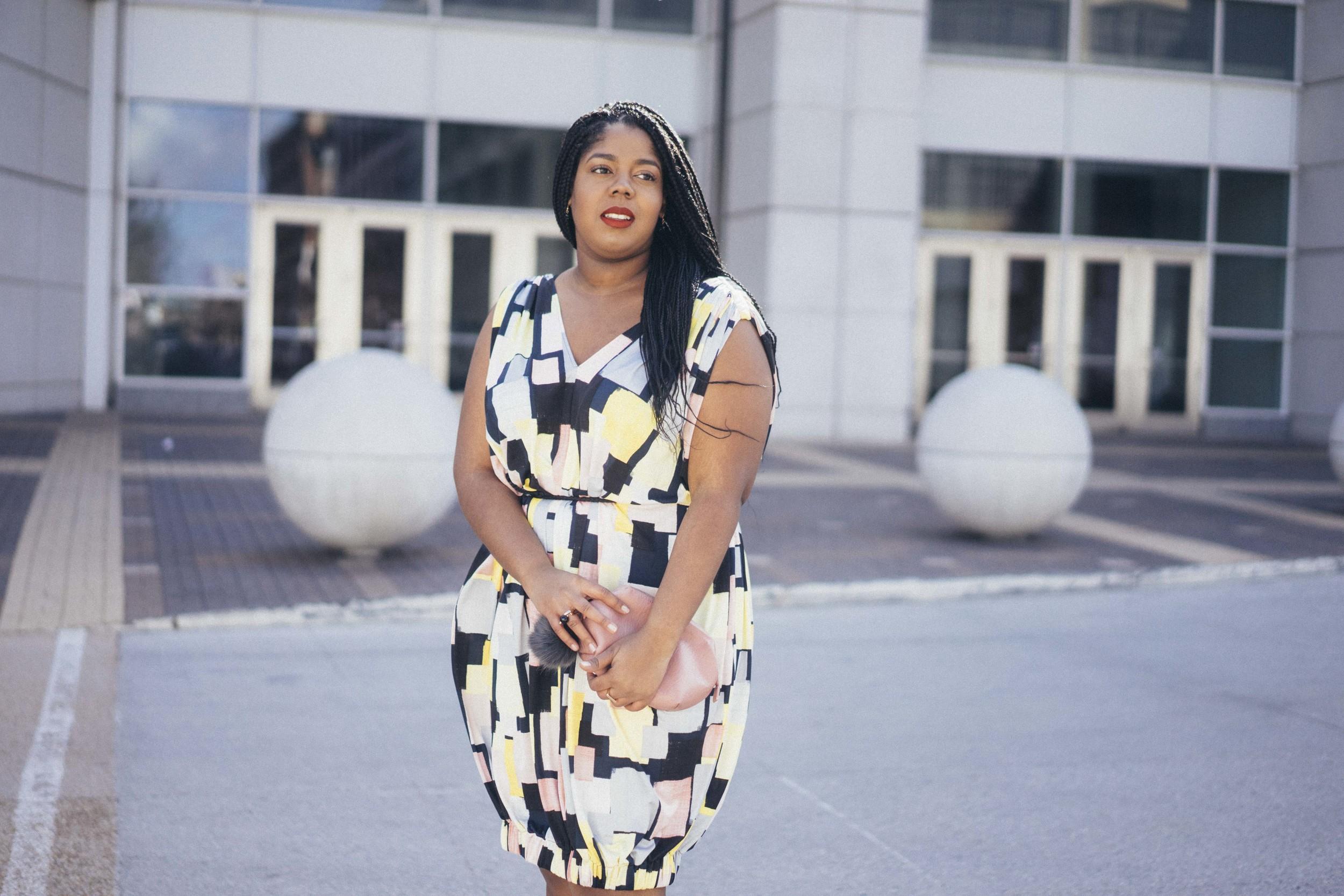 Beth Ditto Hayet Rida Print Bubble Dress Plus Size Blogger Style Chicago 9.jpg