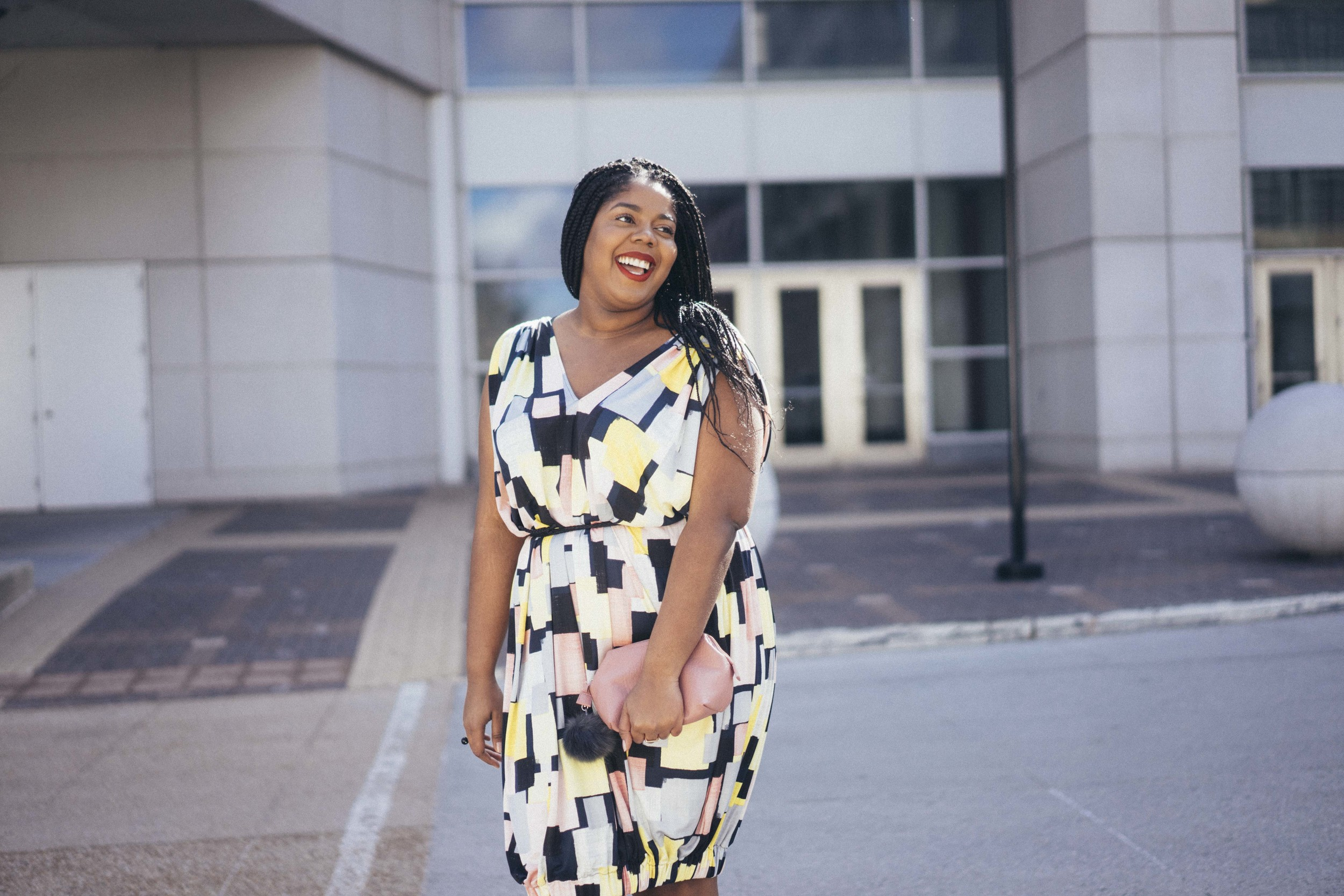 Beth Ditto Hayet Rida Print Bubble Dress Plus Size Blogger Style Chicago 10.jpg