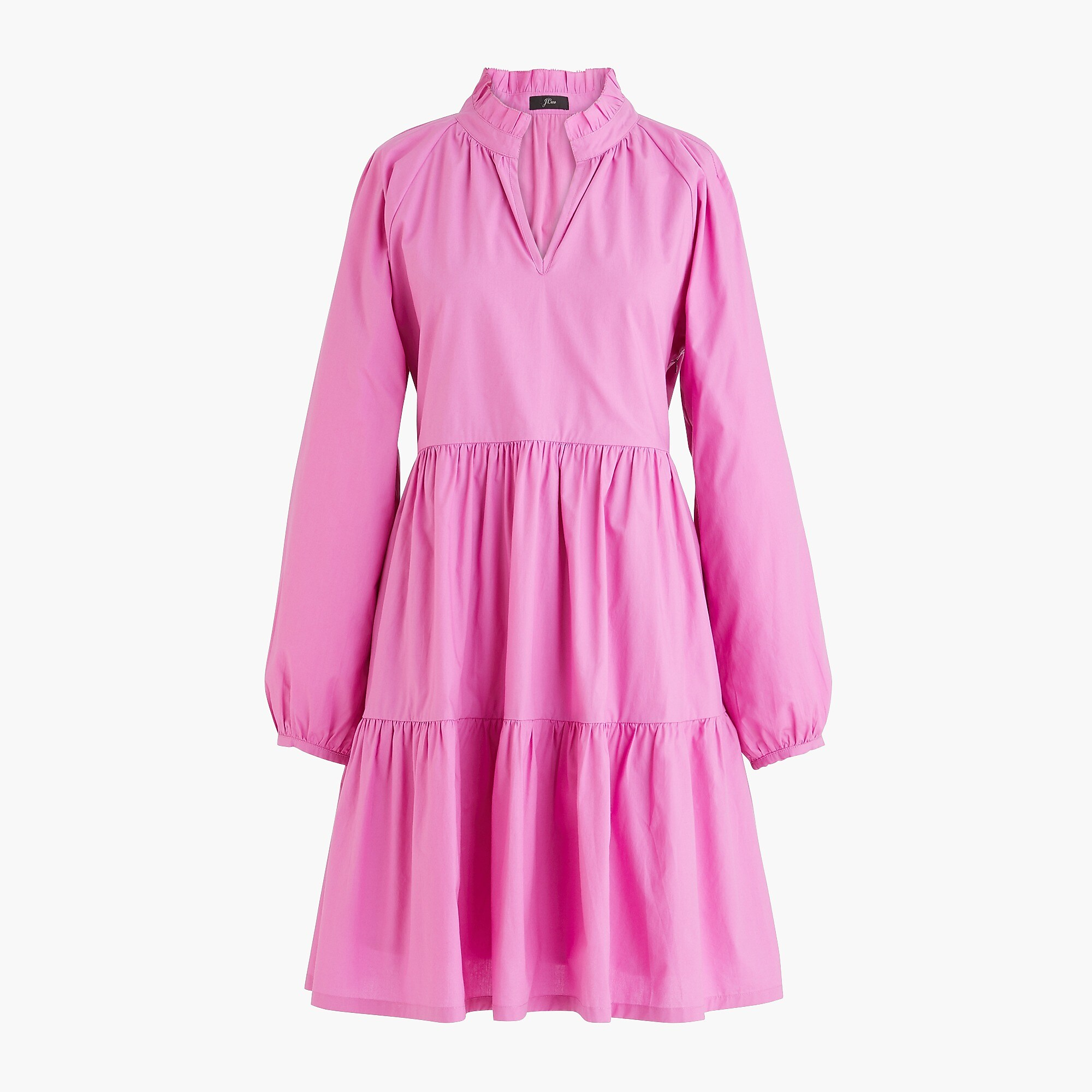 Tiered popover dress, pink