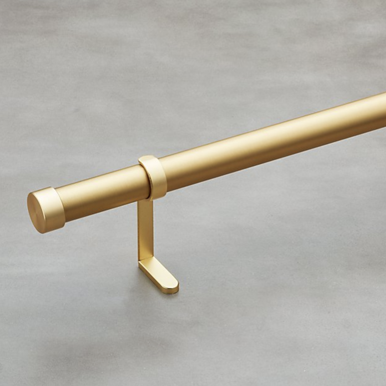 CB2 gold curtain rod