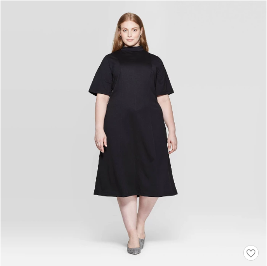 Target cowl neck midi dress