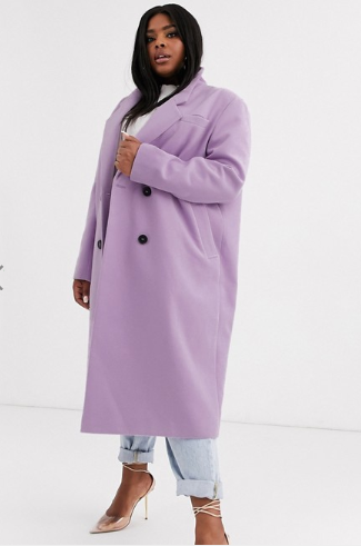Long Peacoat, Lilac