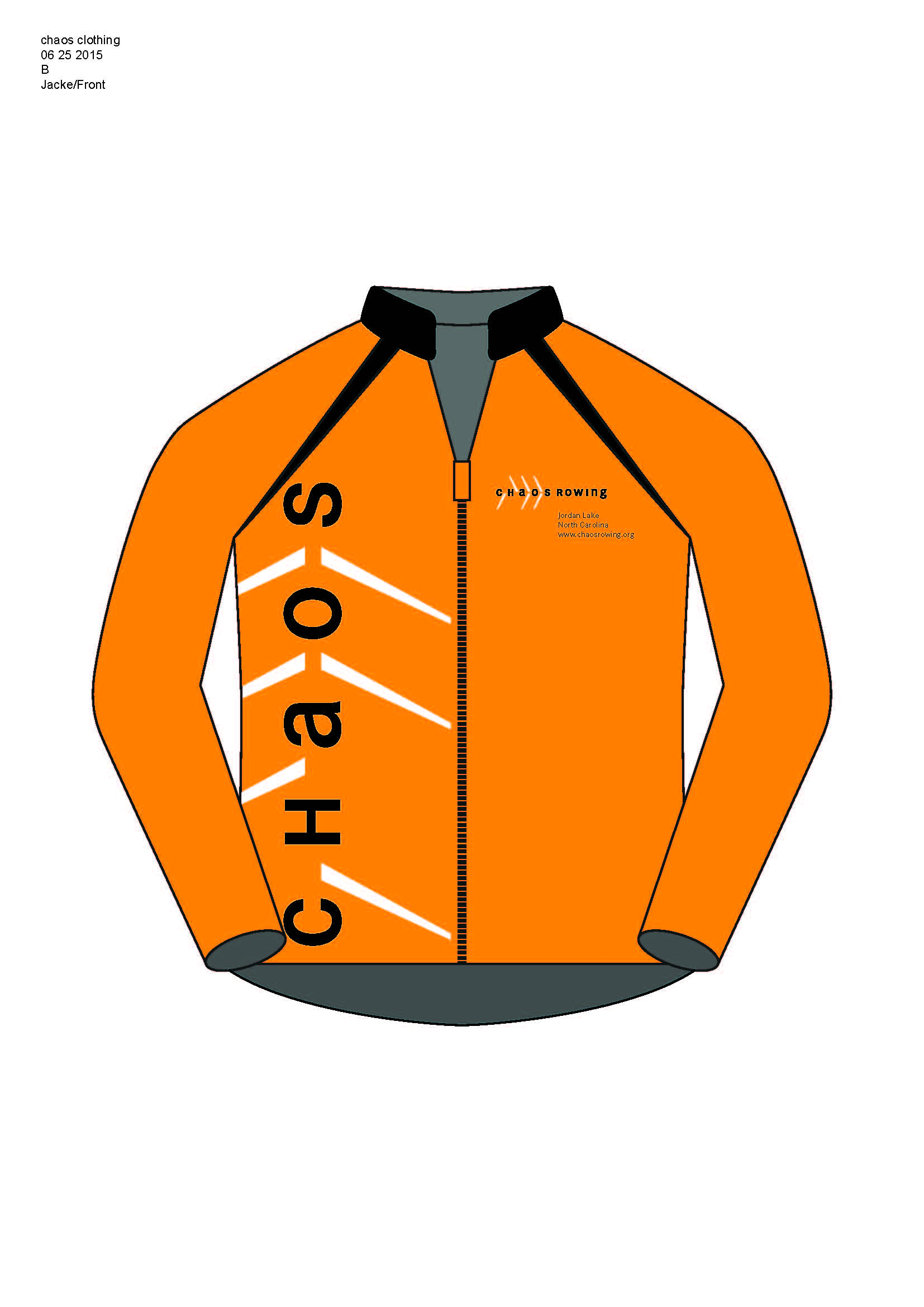 The front view of the jacket