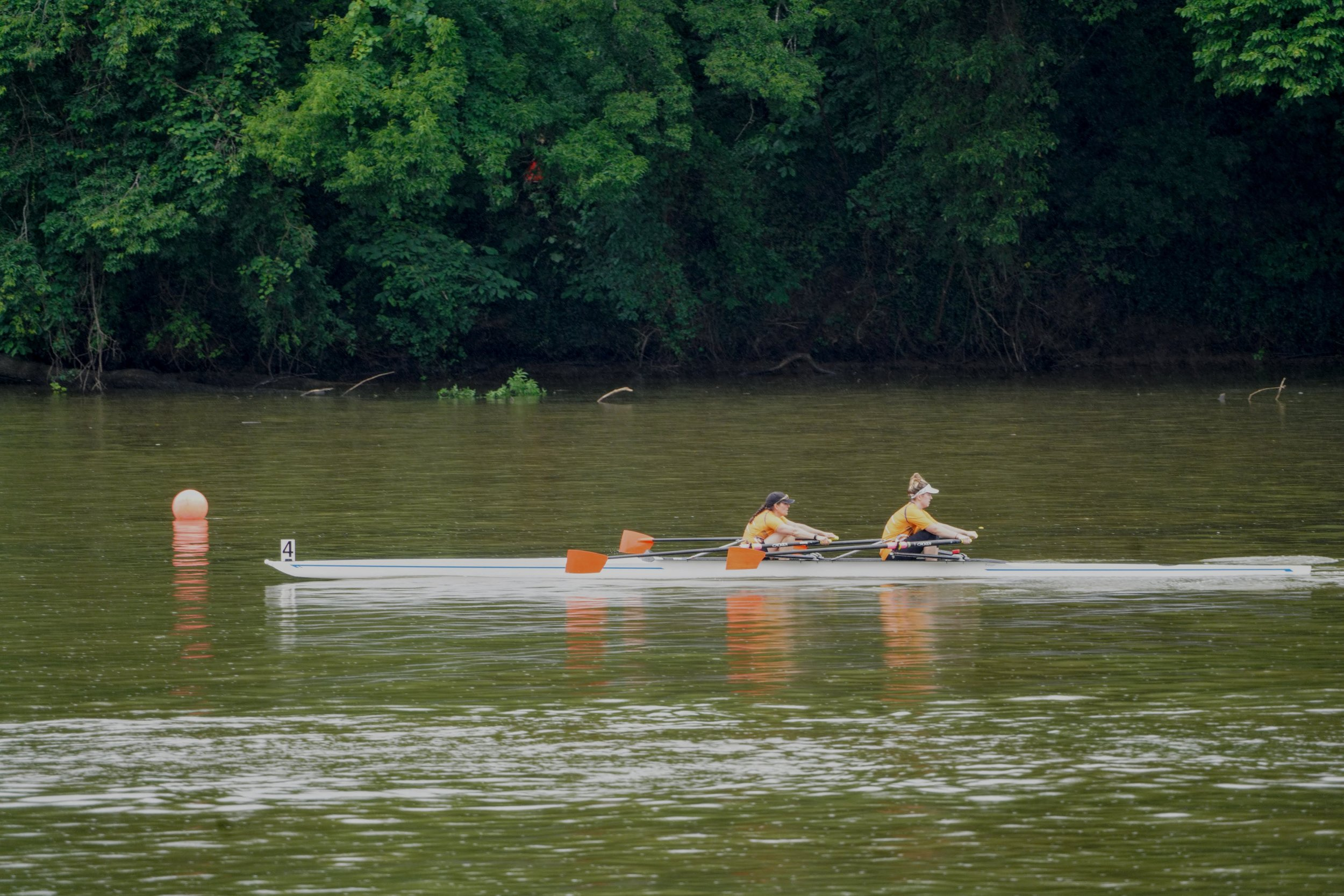 Women Master 2x - came in second after sprinting through