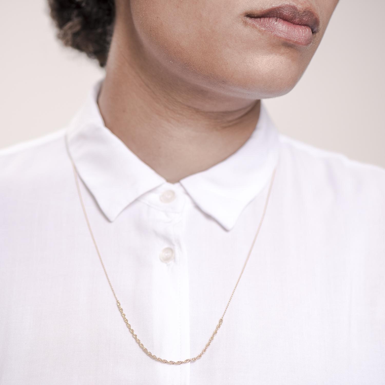 NANA Bijoux Halskette Goldplattiert Golden Doppelankerkette_4.JPG