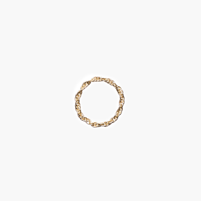 NANA Bijoux Fingerring Goldplattiert Gold Doppelankerkette_1.jpg