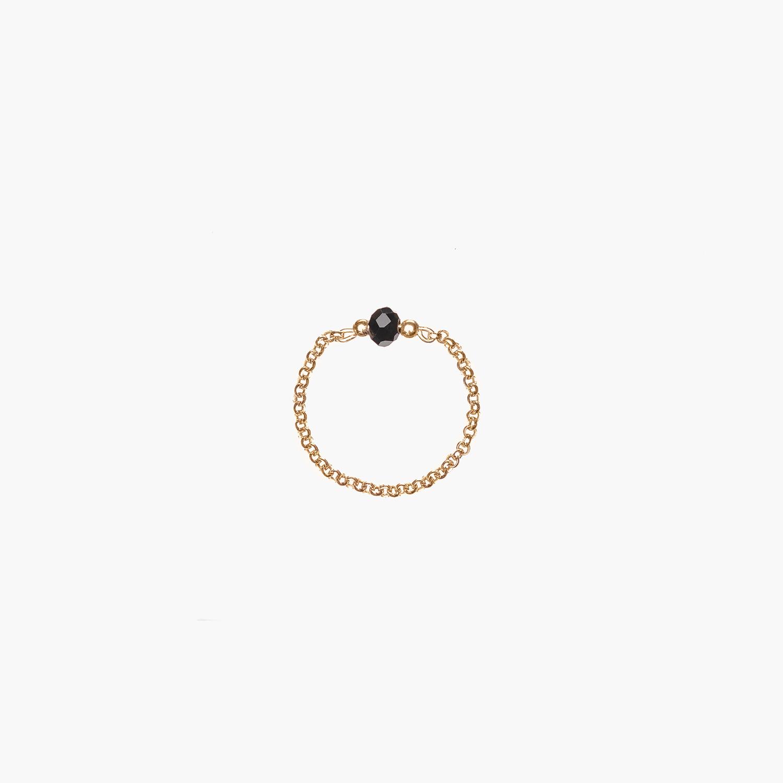 NANA Bijoux Fingerring Goldplattiert Gold Erbskette Quarzkristall Schwarz 1_1.jpg