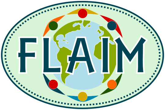 FLAIM Oval Bumper Sticker