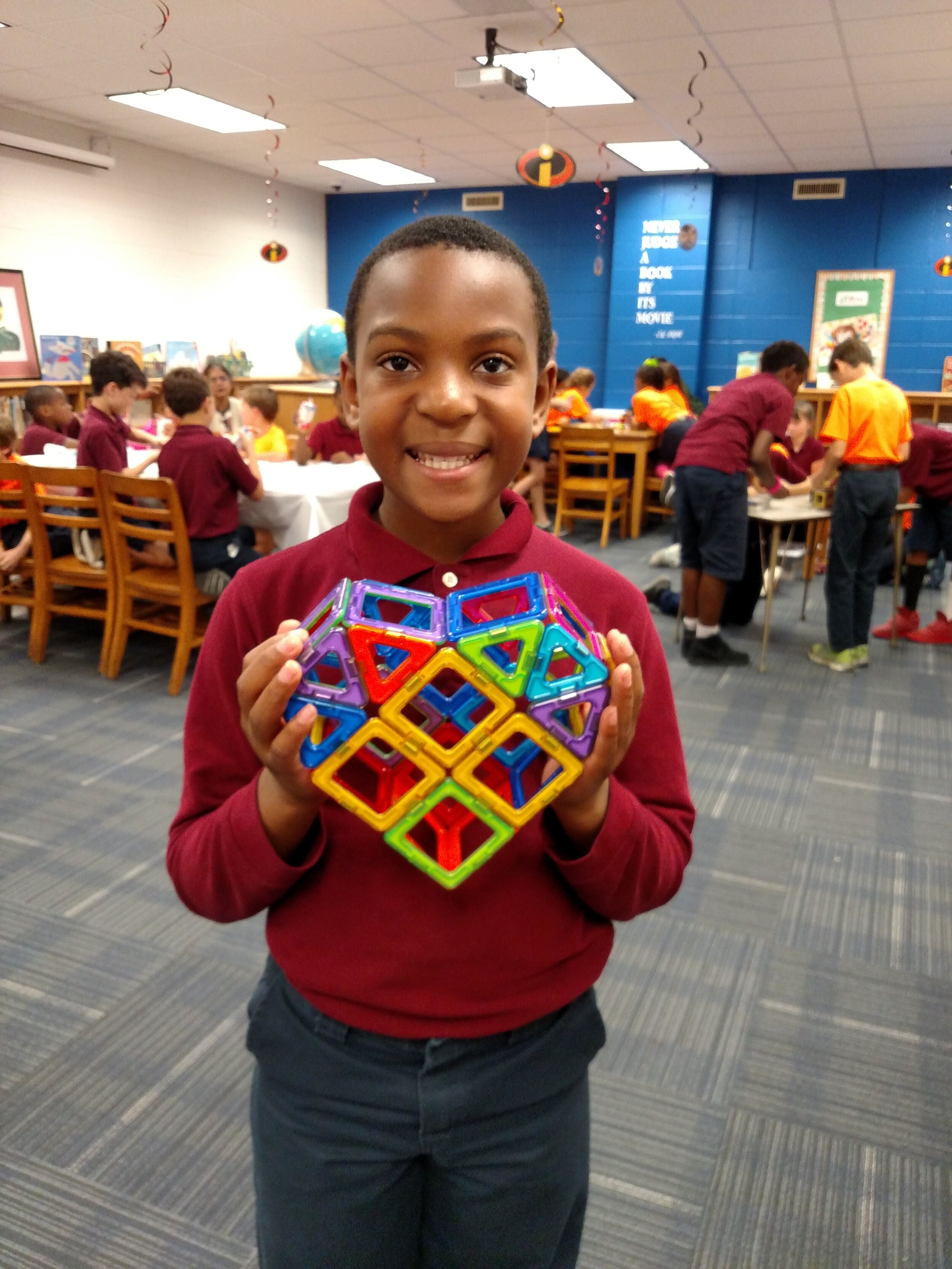 Students participating in STEM activities