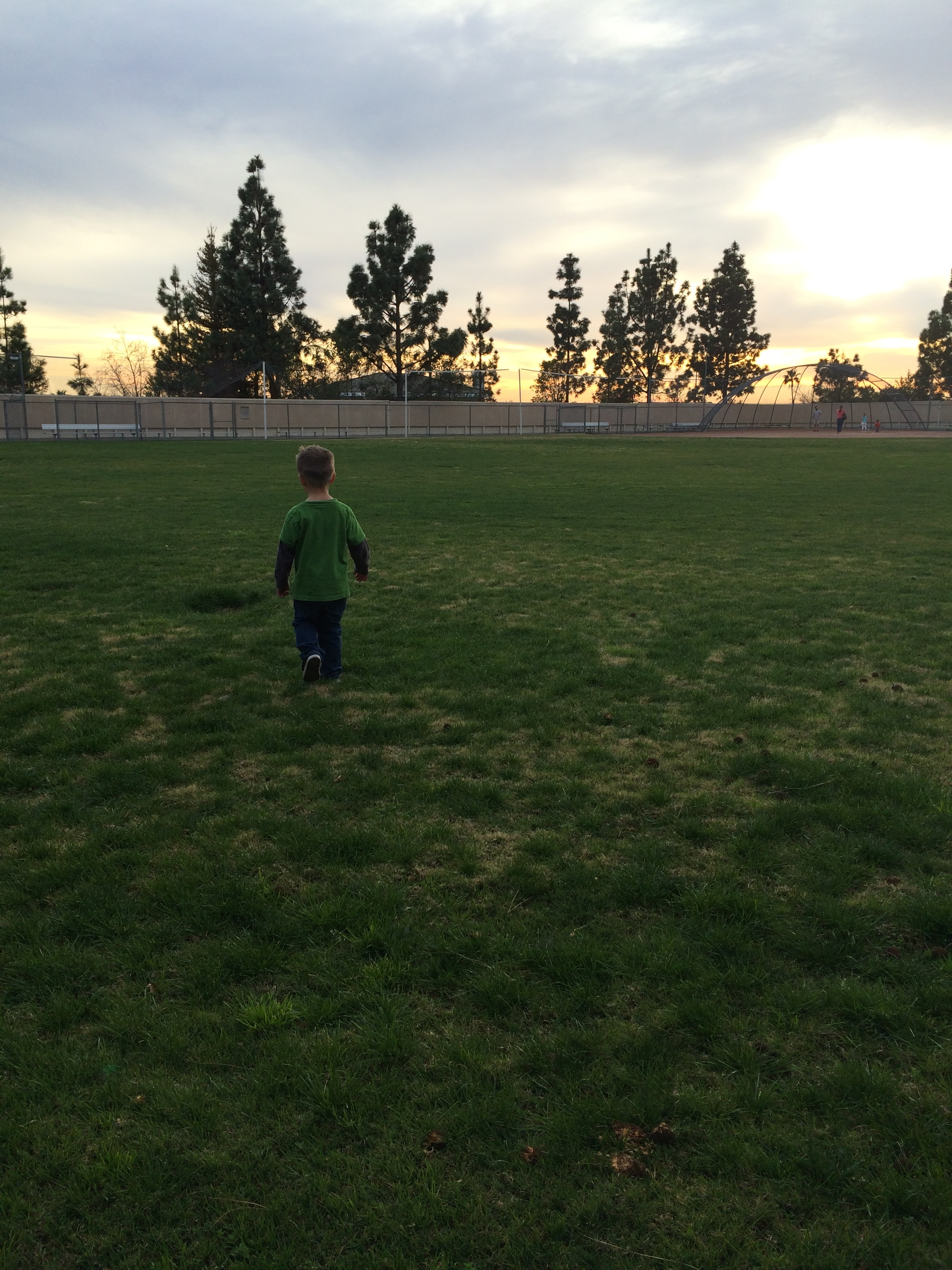 """I met his daddy on this same field almost 15 summers ago now.  Watching him run it and the """"who could have known's?!"""" running through my head, make me smile big."""