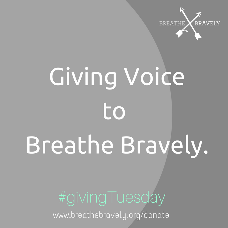 Donate and put this photo as your temporary profile image or share it to social media to show your support for Breathe Bravely and Giving Tuesday!