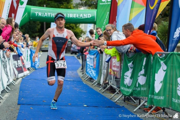 Desmond completing the National Triathlon Championship 2017.