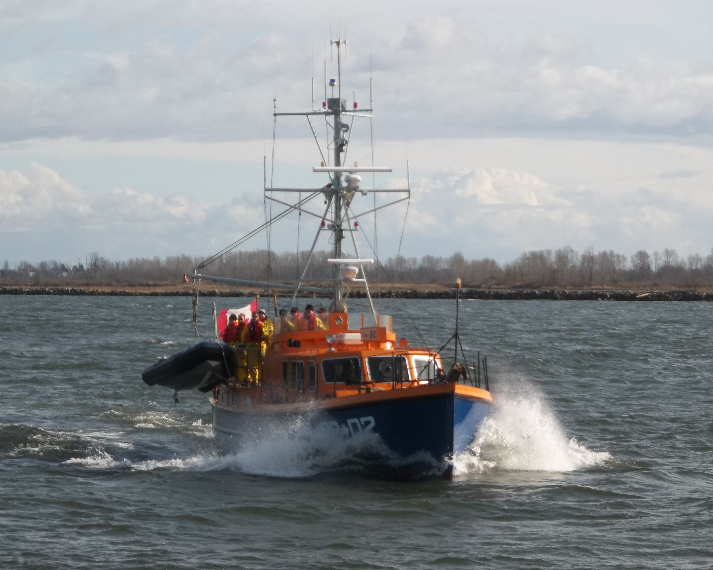 "The ""Steveston Lifeboat"" has been involved in 871 rescues - assisting or saving over 2000 people on the Fraser River/Strait of Georgia."
