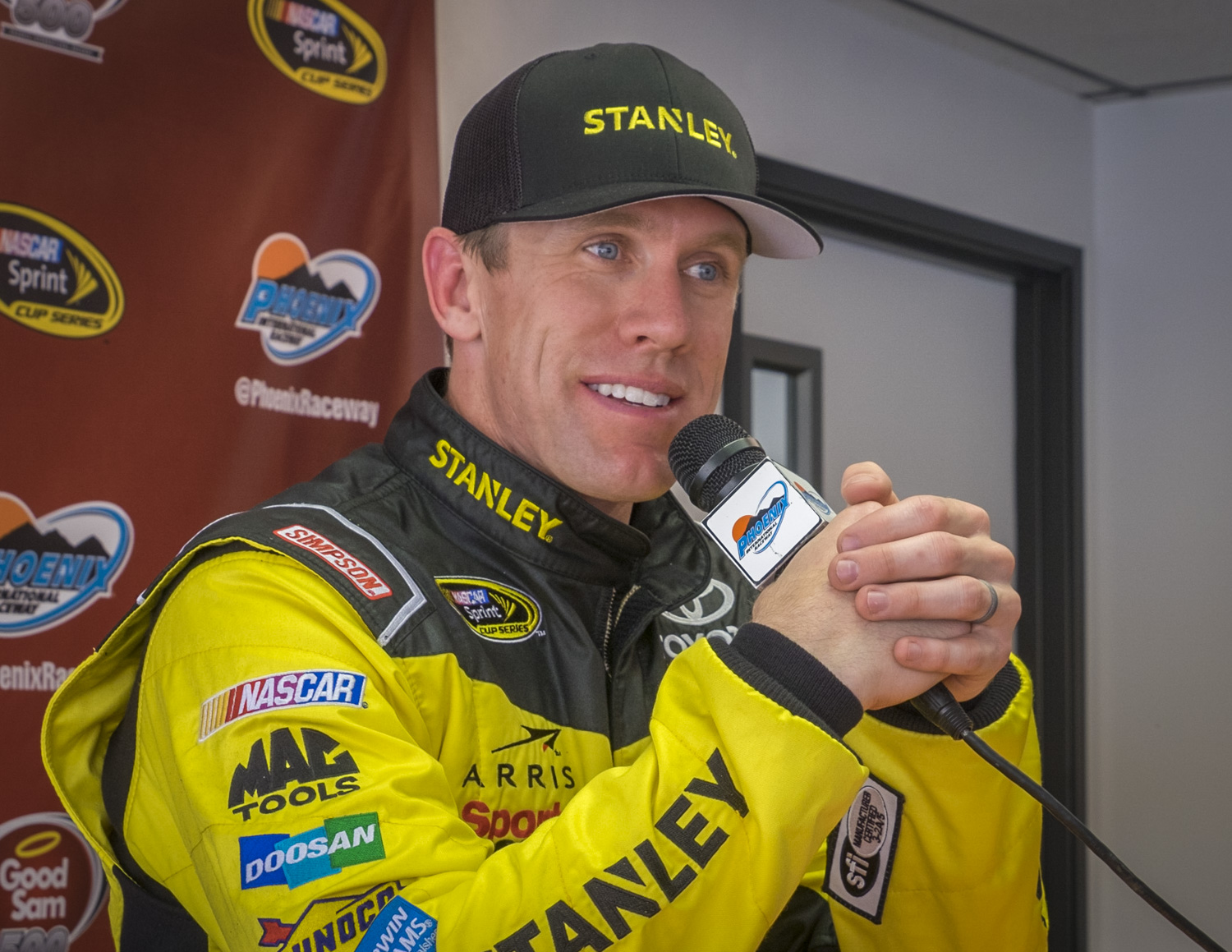 Carl Edwards, a top ranked NASCAR driver