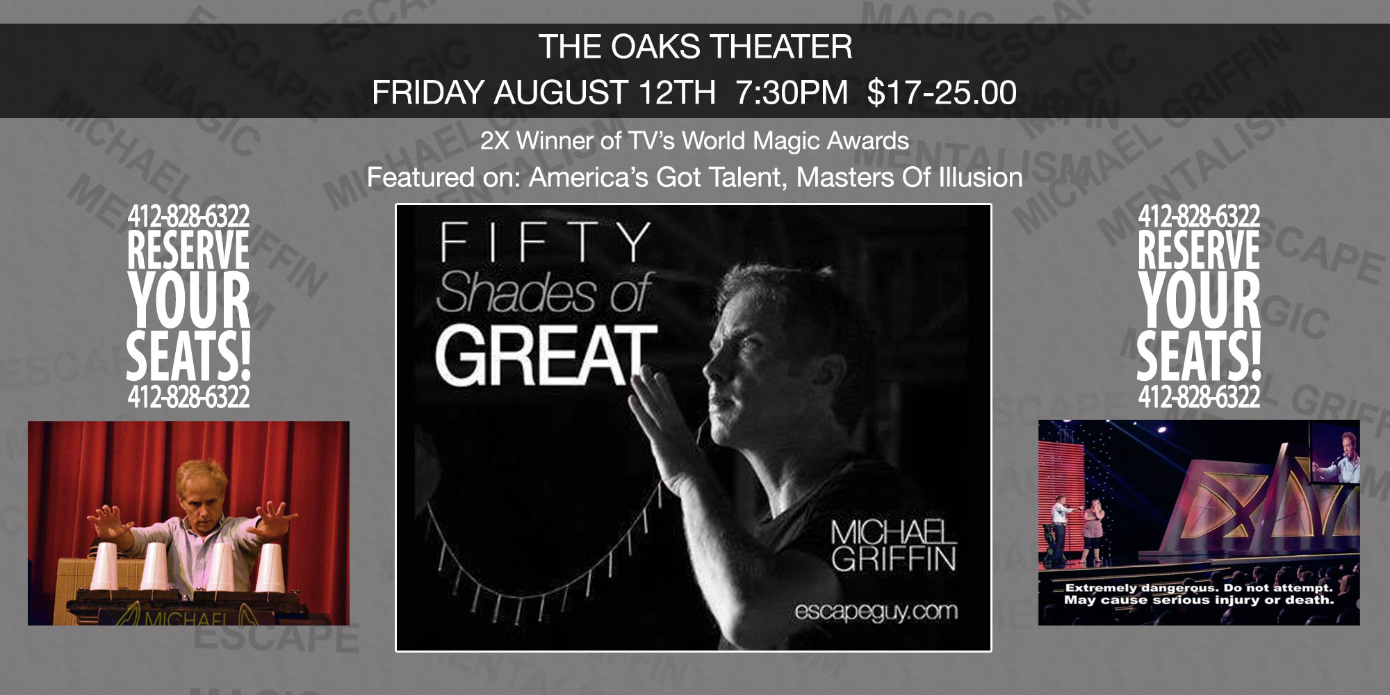 Michael Griffin Escape Artist 50 Shades Of Great Magic Show