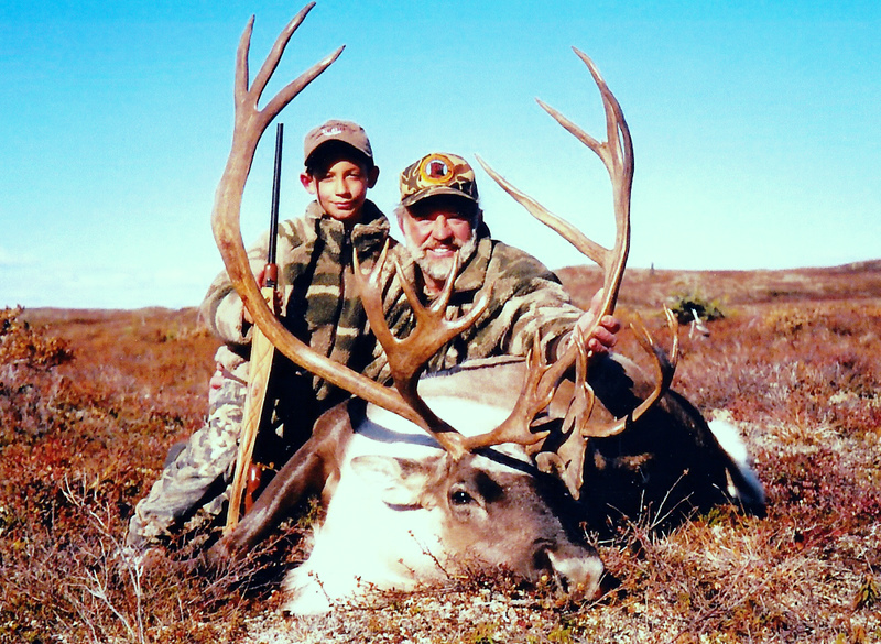 Grandson Jared and me with his beautiful caribou.