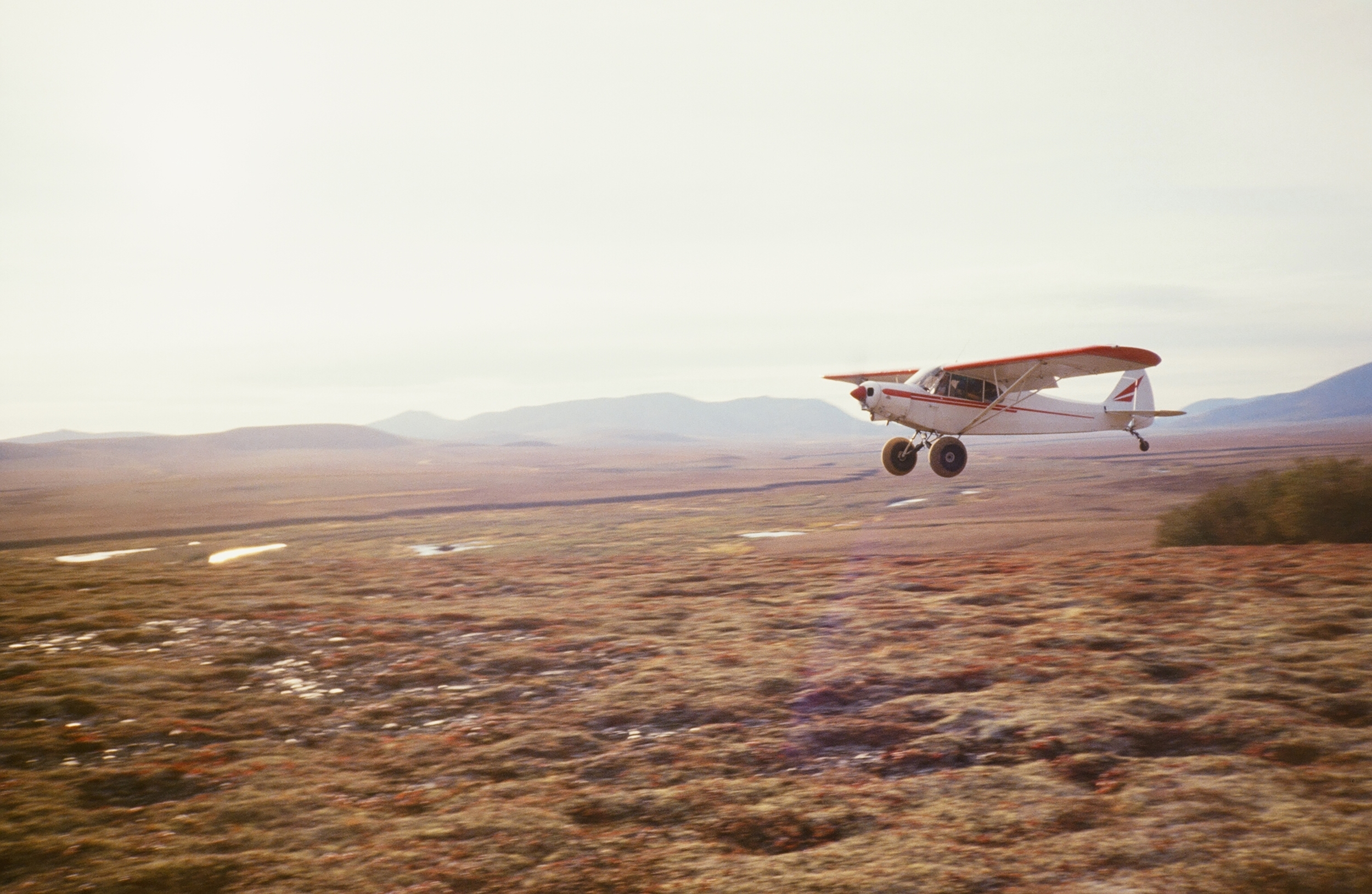 Landing at one of our spike camps in our Western Alaska area.