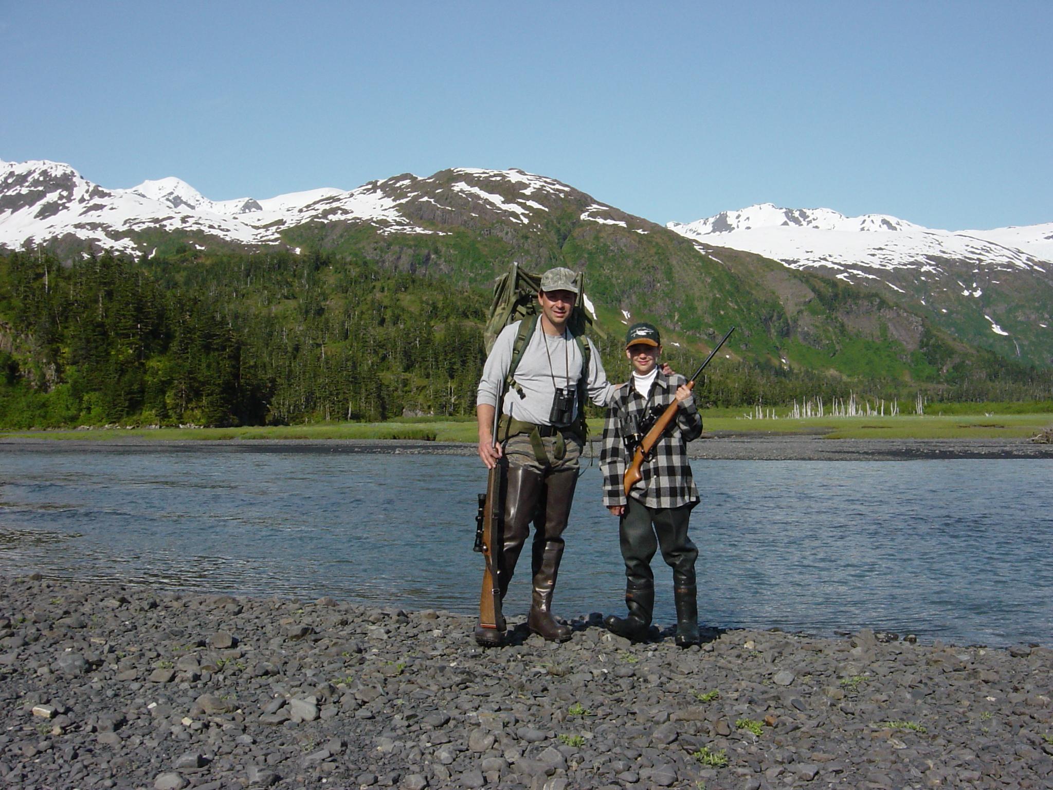 Jordan with her dad Sagen Juliussen on one of those beautiful Prince William Sound days.