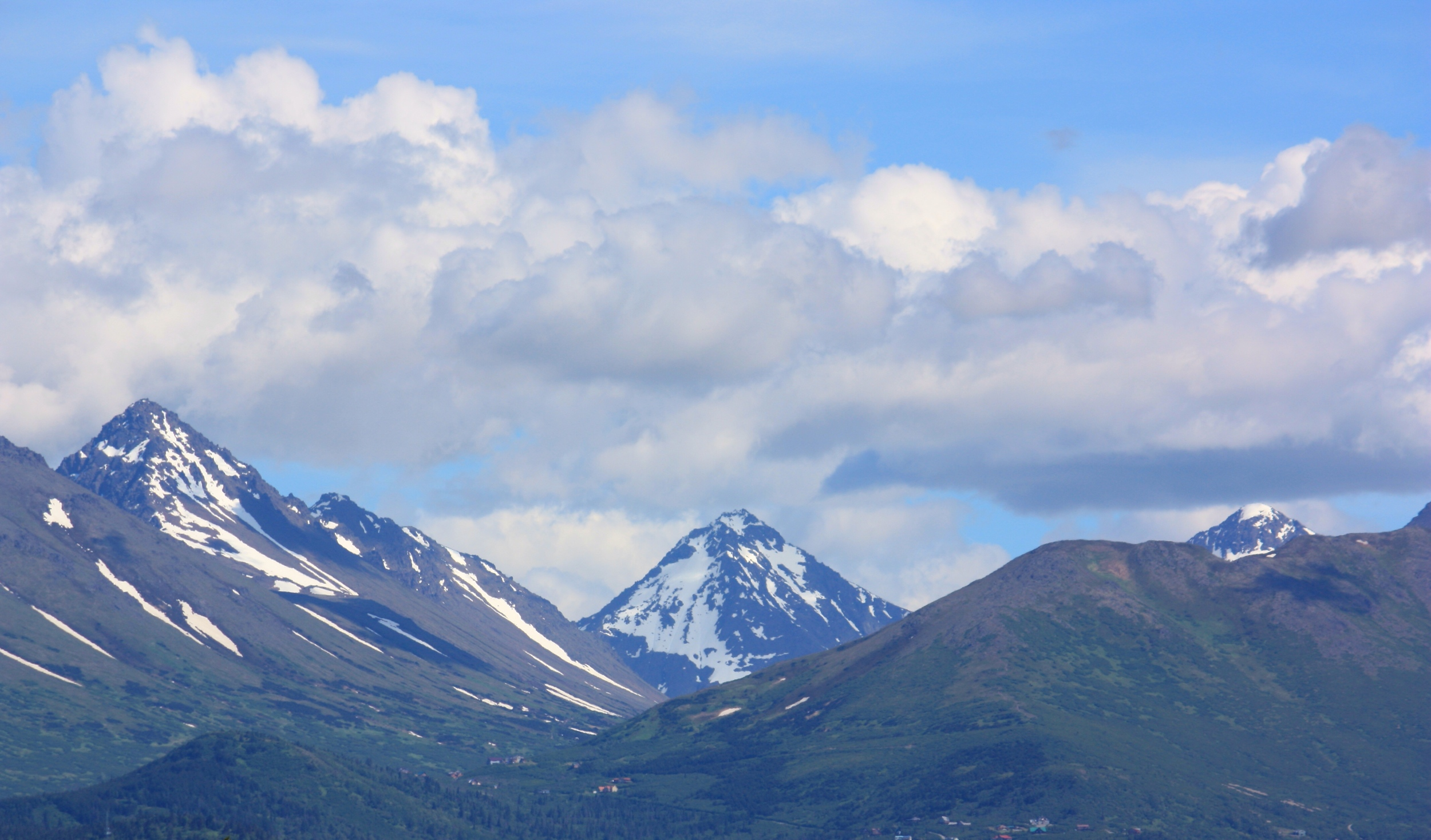 This is what you see every morning when you wake up in Anchorage. This was taken a few days ago. The only real difference in the last 50 years is the number of homes on the mountains.