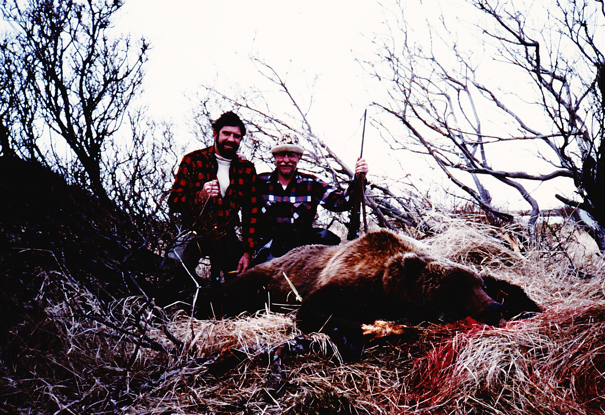 Roland and me with his 8' brown bear.