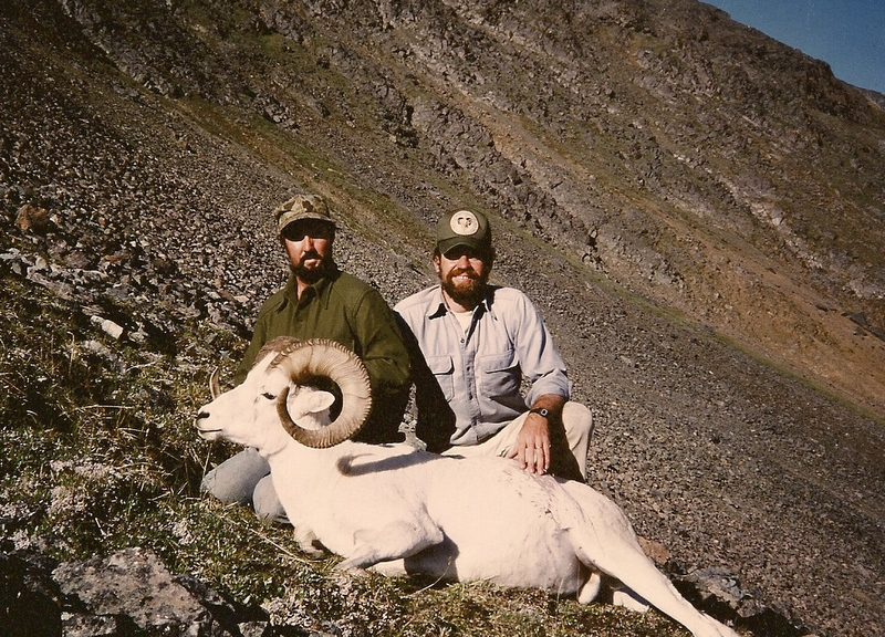 "Bob Gourley and me with his beautiful 39"" ram."