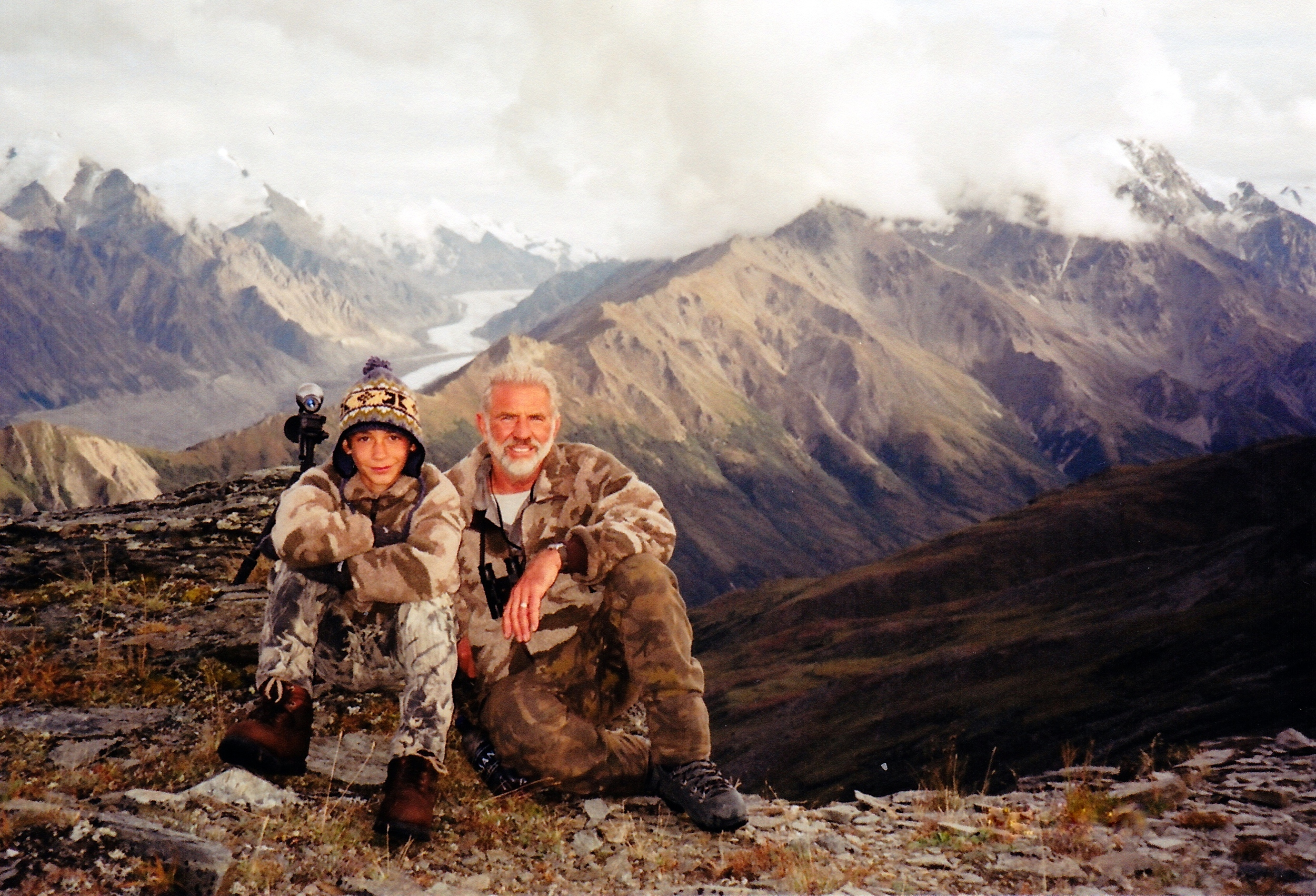 Jared and me surrounded by the beautiful rugged Alaska Range sheep country.