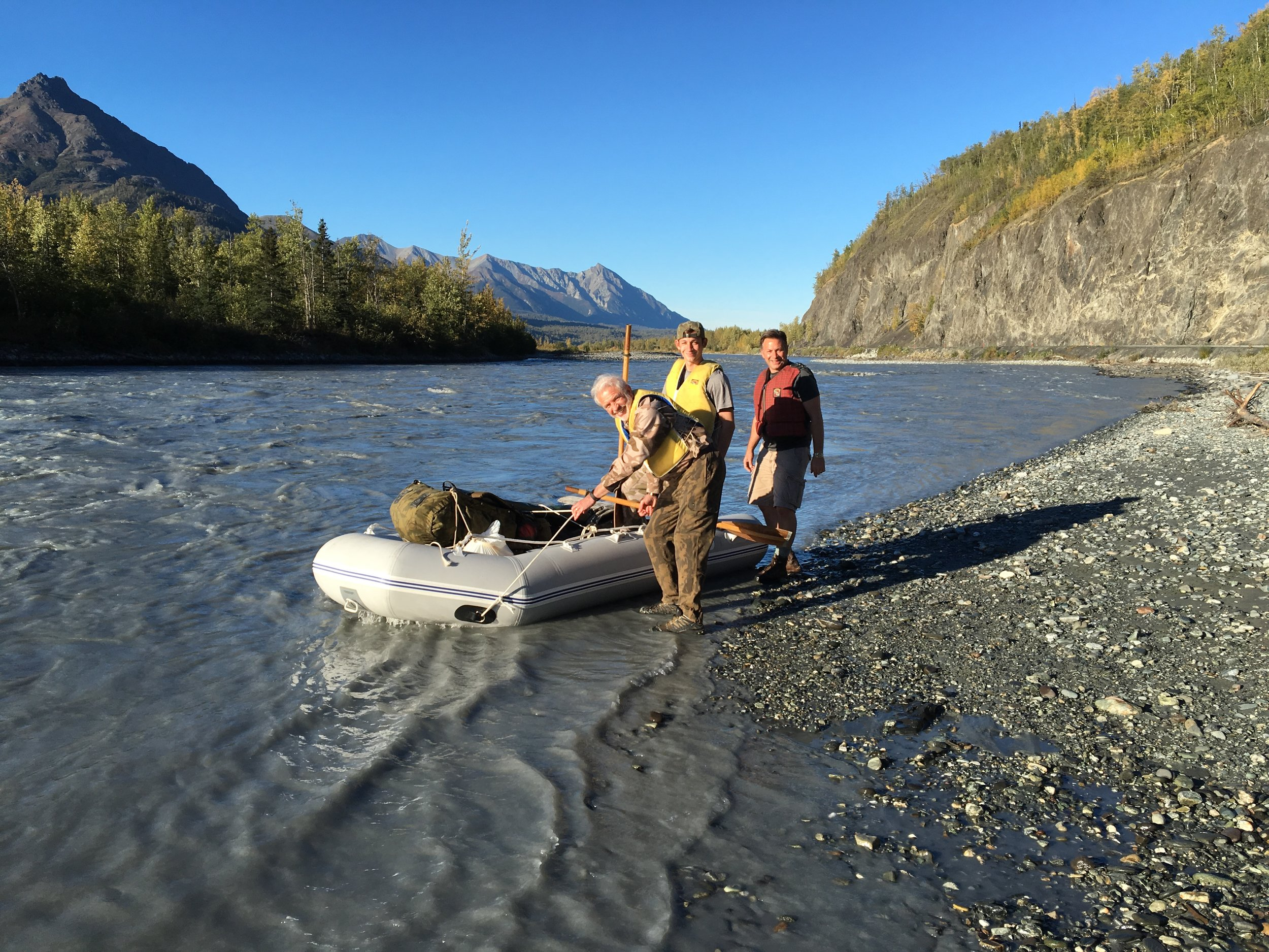 Getting ready to cross the Matanuska River.