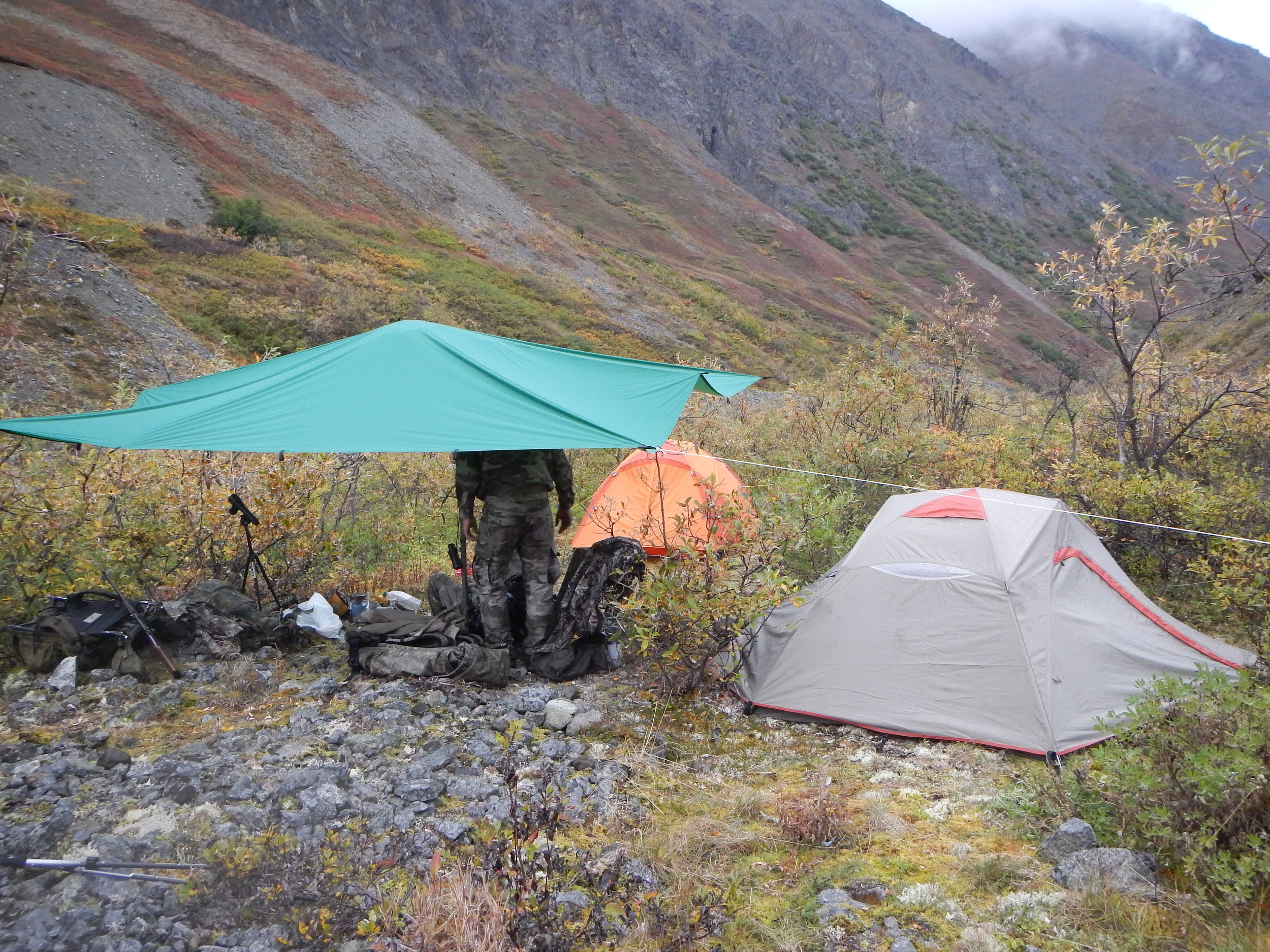 Our camp in the main hunting valley.