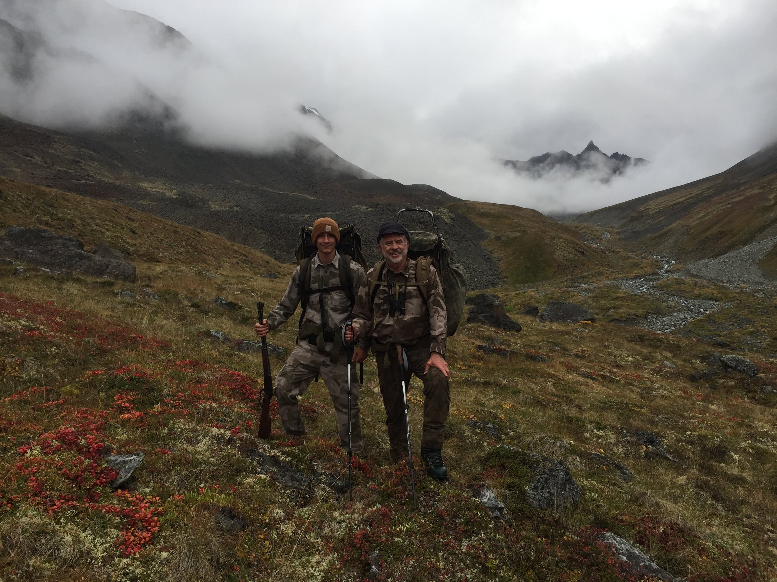 Jared and me hunting out of the valley.