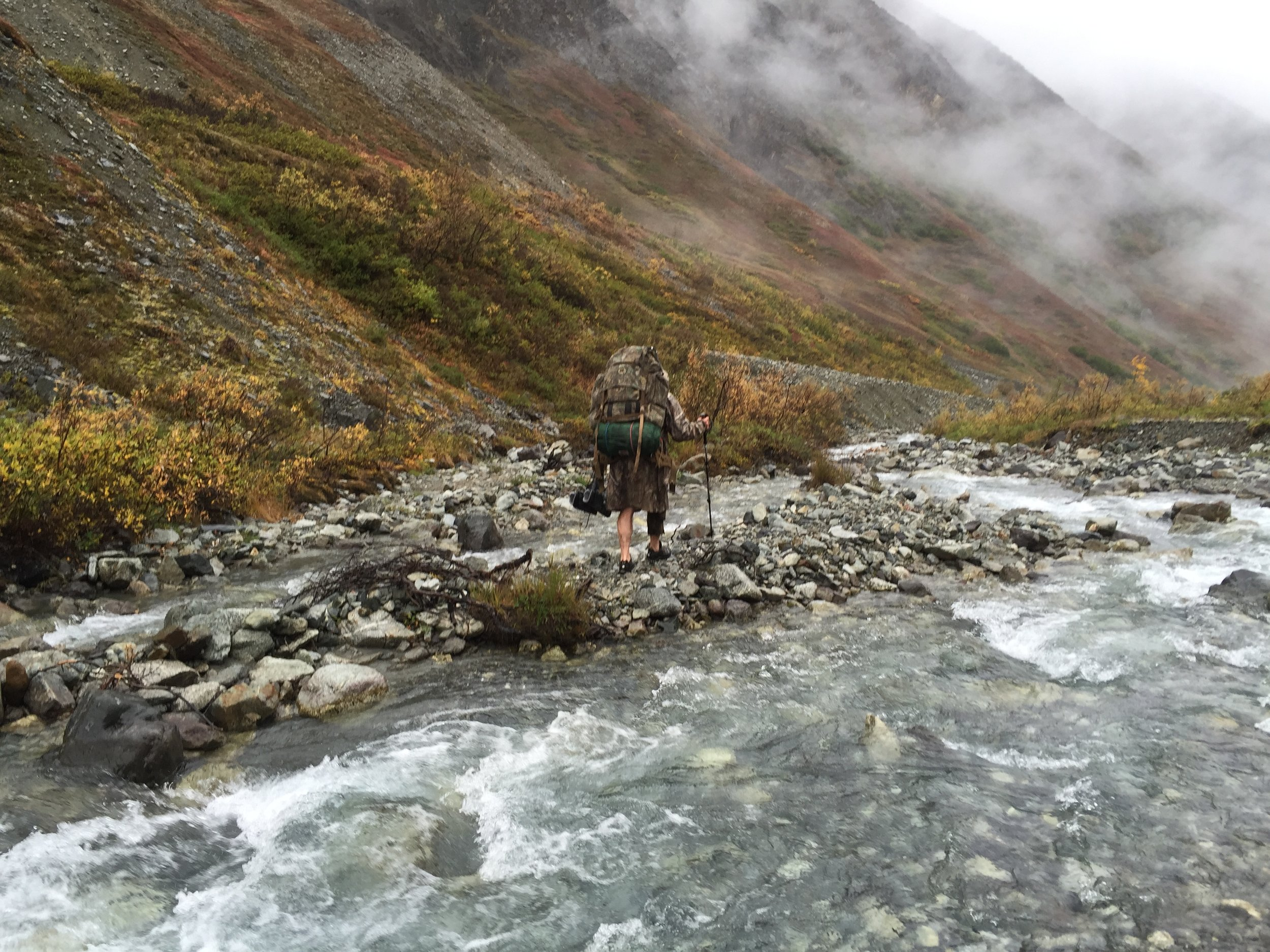 I just finished crossing the creek on the way out.