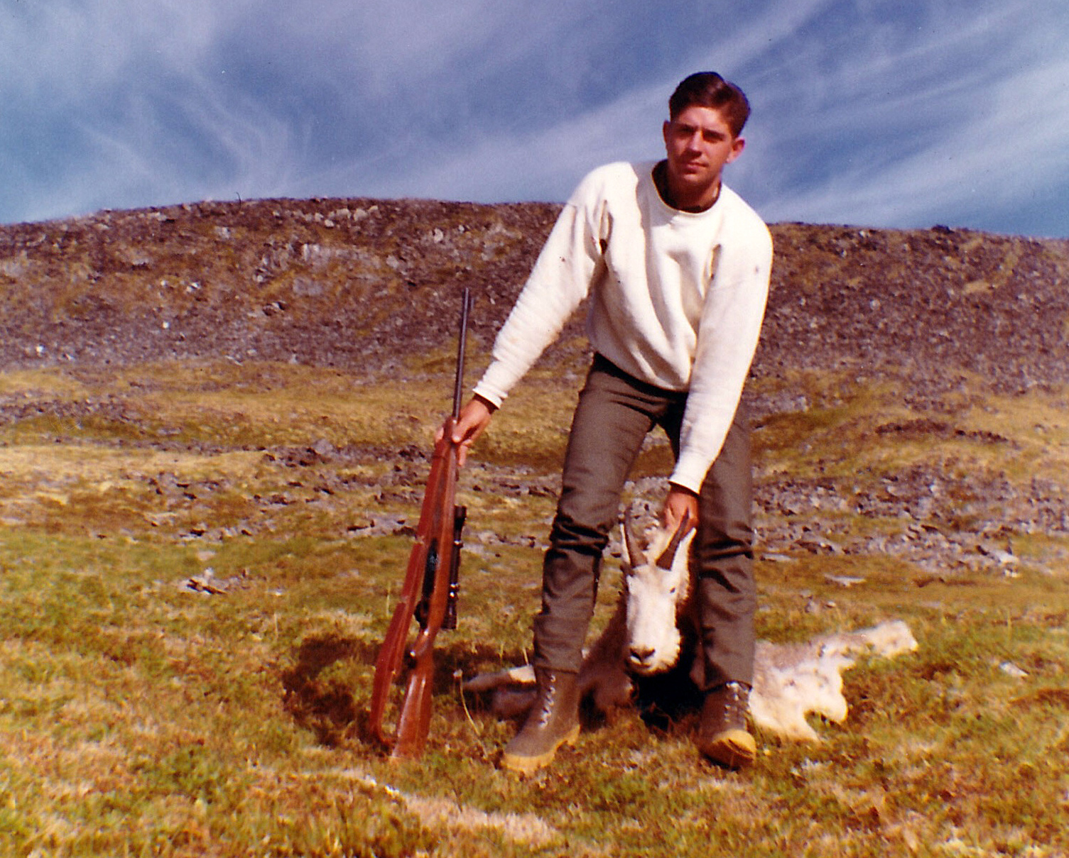 """My 8"""" billy goat. Check out those rubber boots."""