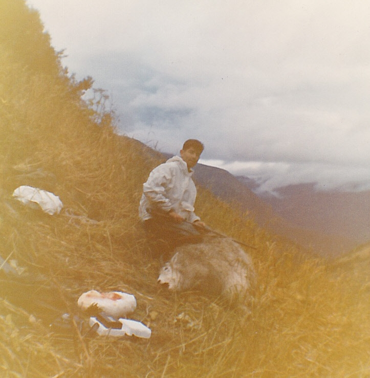 """Gary's 9"""" billy goat on a later hunt."""