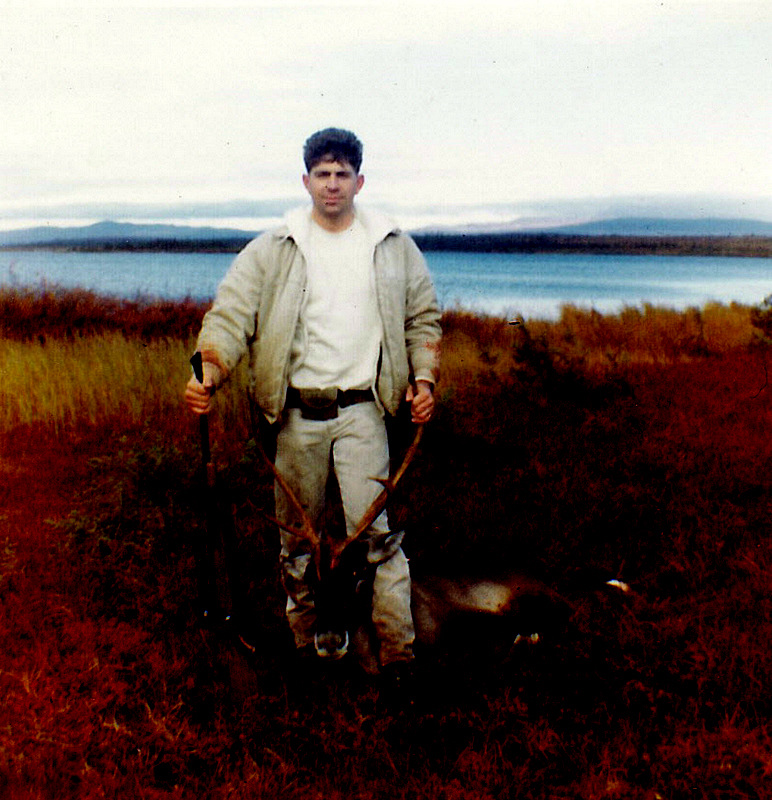 """My first caribou shot from my sleeping bag. He was a """"super dink""""."""