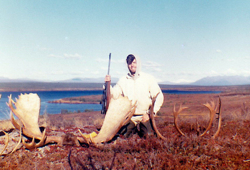 Gary with his moose and caribou.