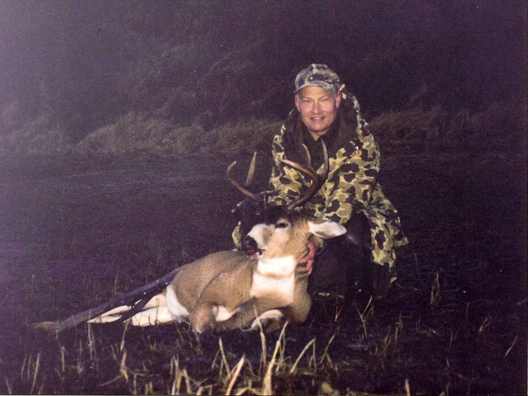 Ron with our first Sitka Black-tailed deer in Zacher Bay.