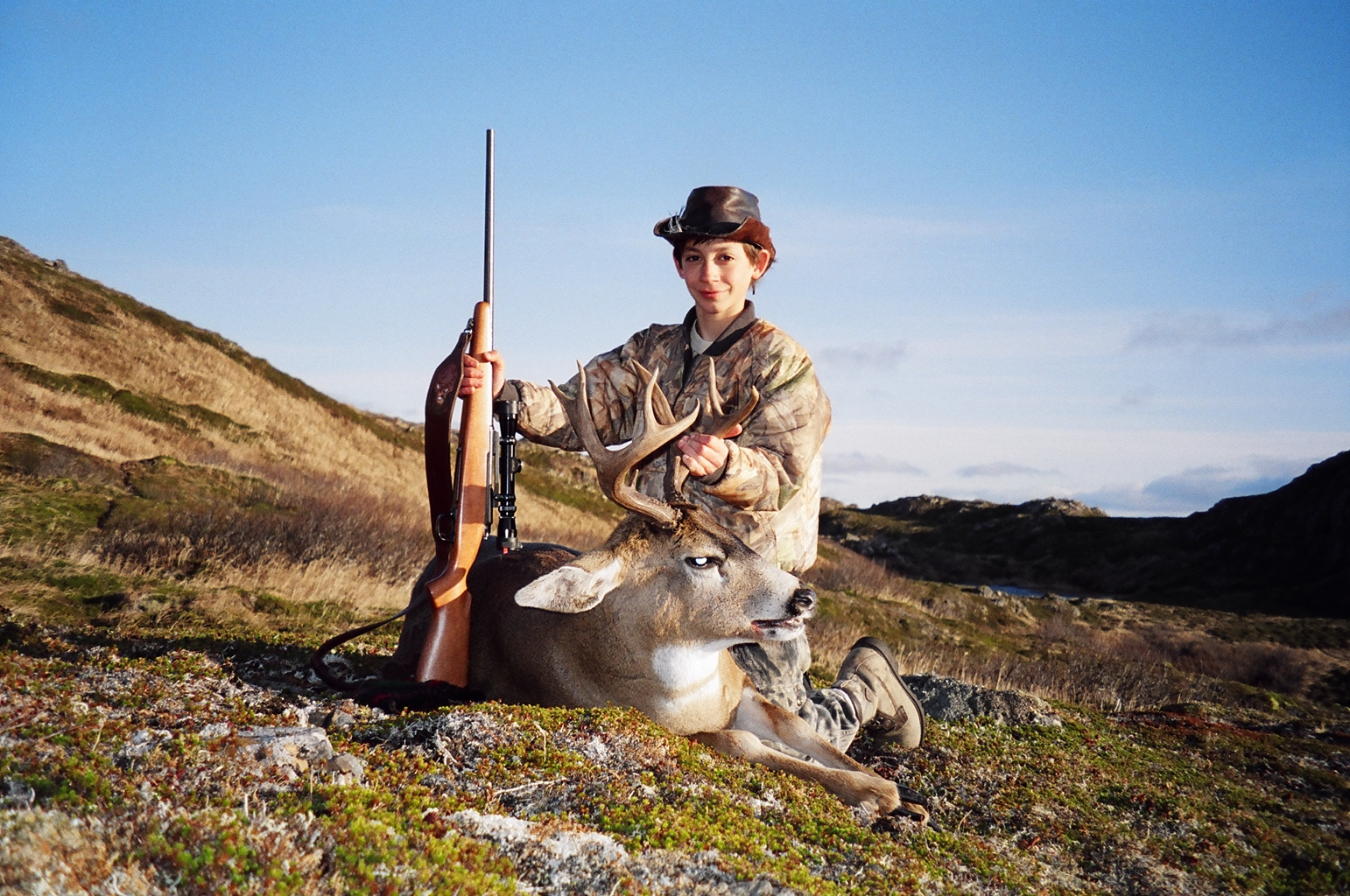 Jared, age 12, with his super 96 point B&C deer.