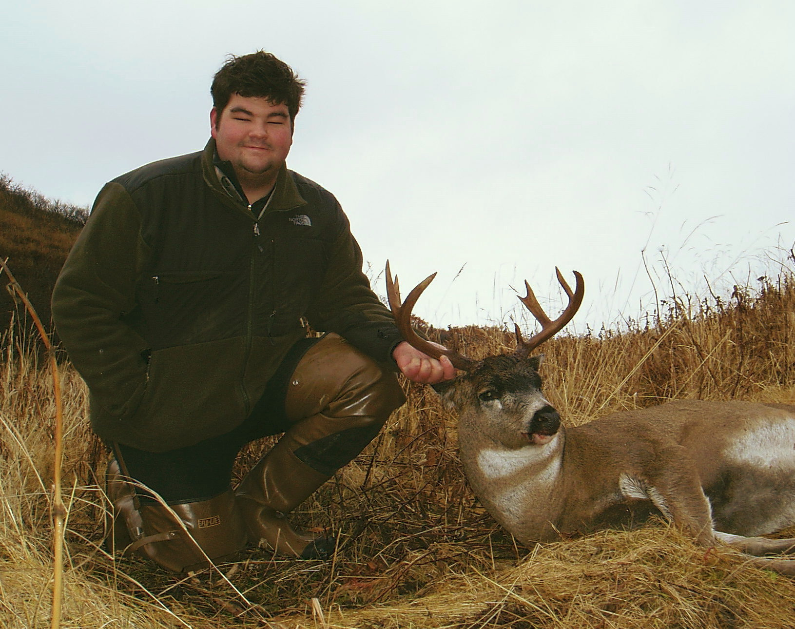 Greg with his dandy deer that scored 101 B&C points,