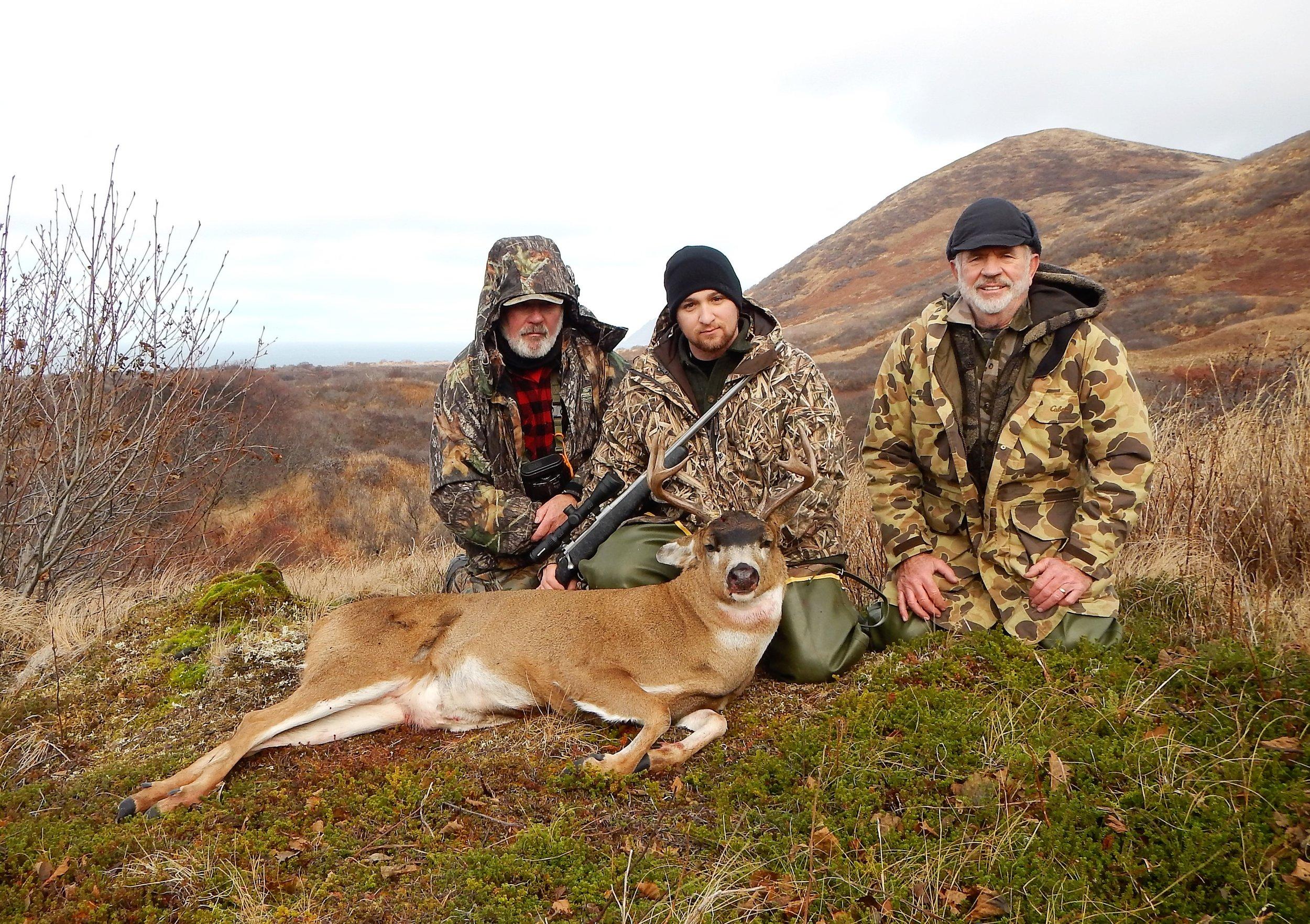 (L to R) Dan, Jonathan and myself with Jonathan's beautiful deer.