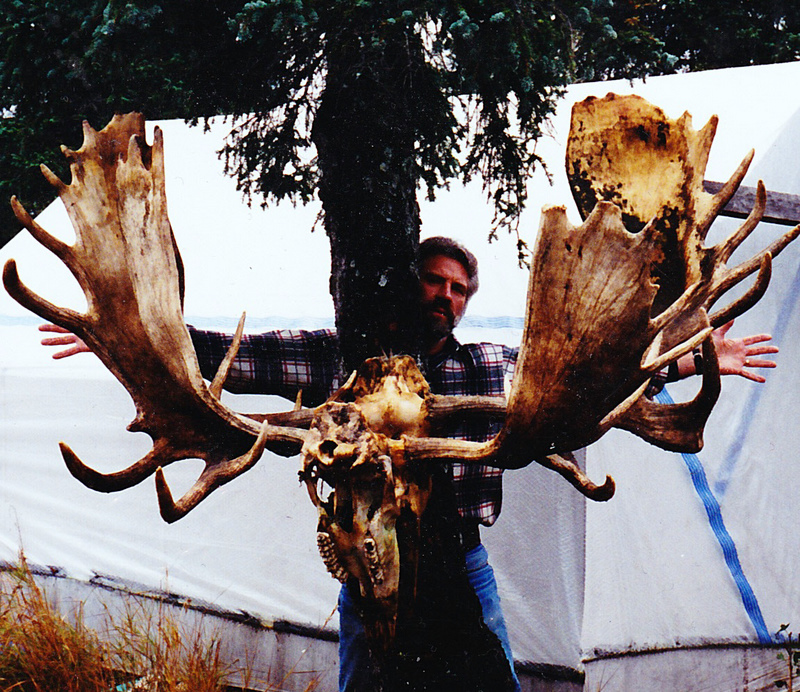 "We hung the antlers on a tree in camp.  The largest set was 69"" and the smallest was 56""."