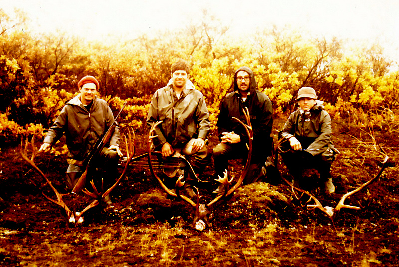 (L to R) Jerry Graham, myself, Earl Boucher and Marv Buckley down by Cinder River.