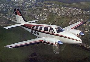 A Beech Baron like the one we flew in to King Salmon.