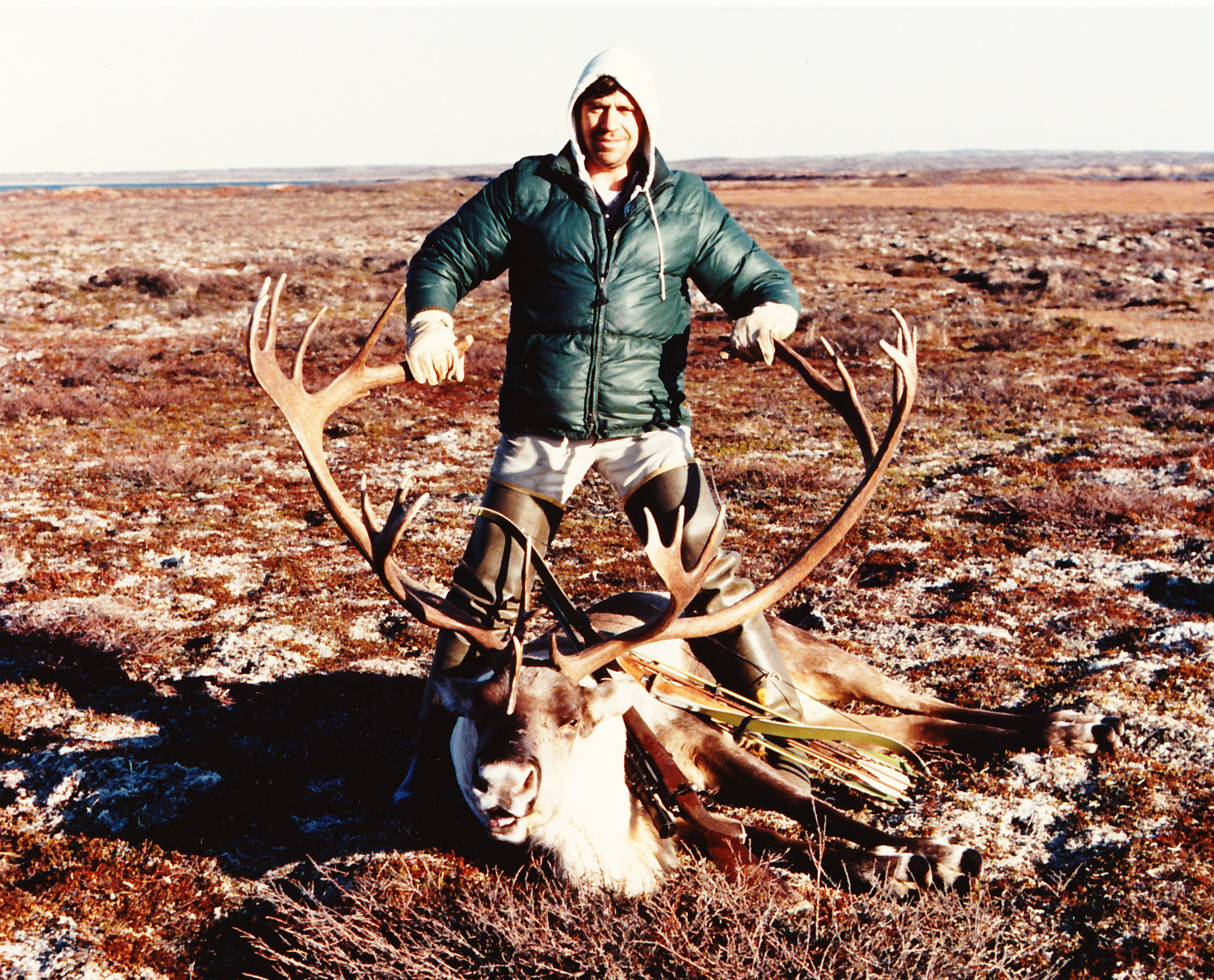 My largest a 396 B&C caribou taken from our camp by Jensen Strip.