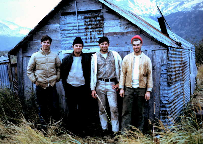 (L to R) Bobby Butler, Jon Moulet, myself and Dick Roberts in our home away from home.