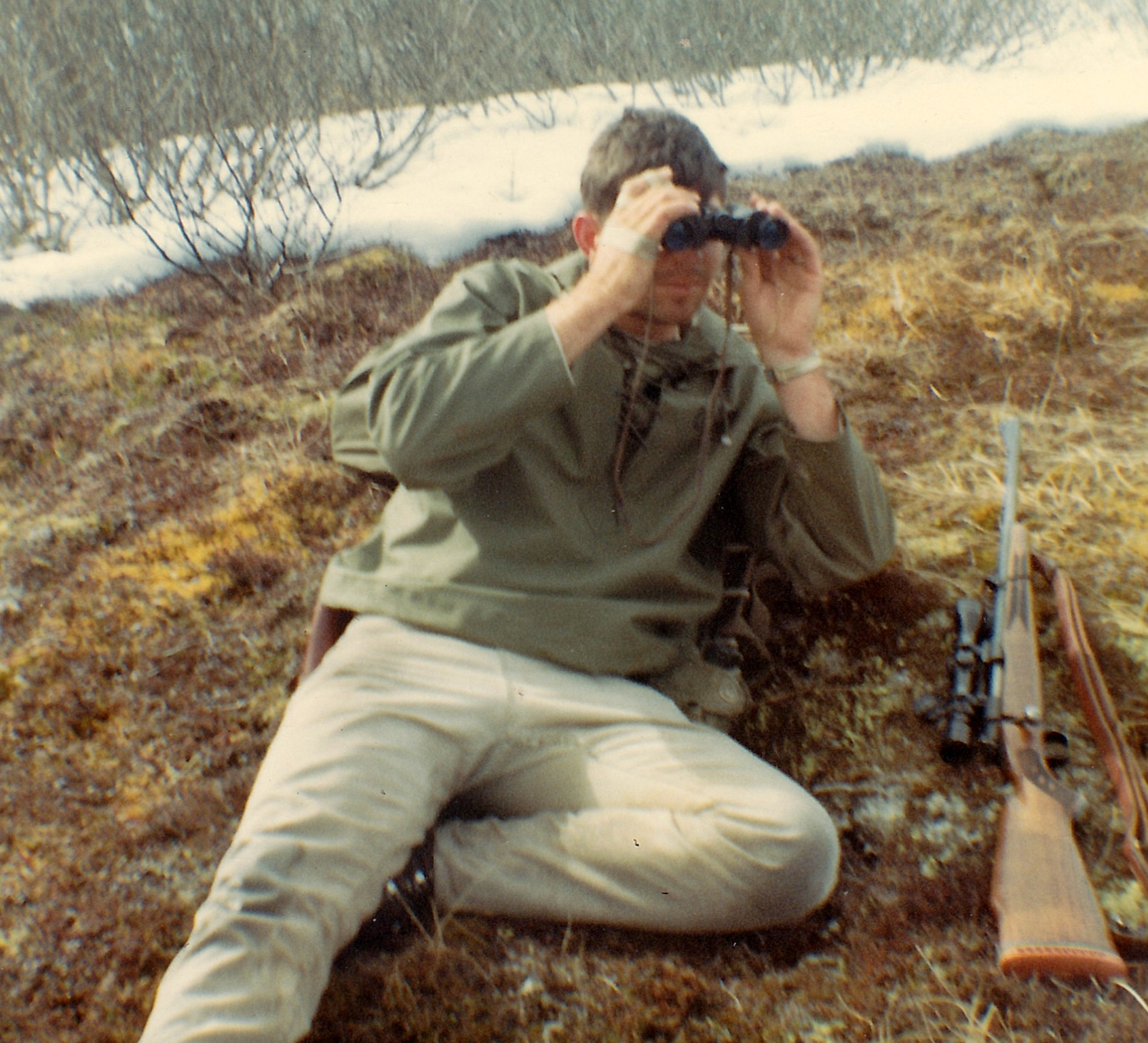 Here I'm glassing the south side of the mountain. On this hunt I didn't do enough of that.