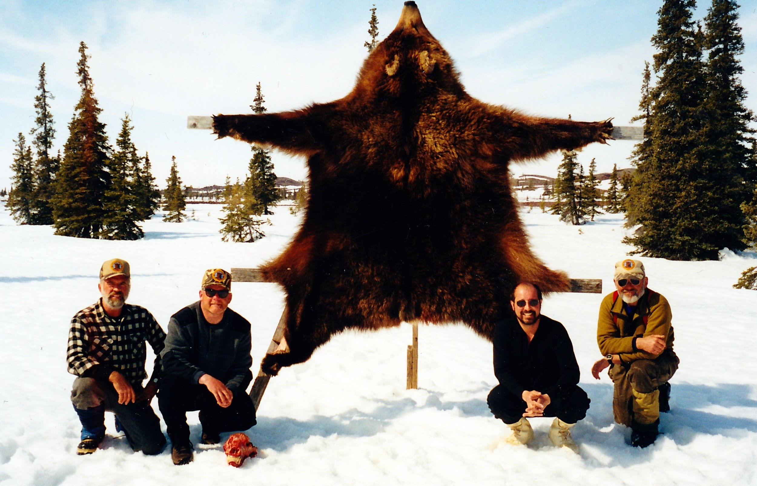 One of the many bears taken in the area. (L to R) Myself, Robin Margolis, Hurricane,WV, Dee and Dan.