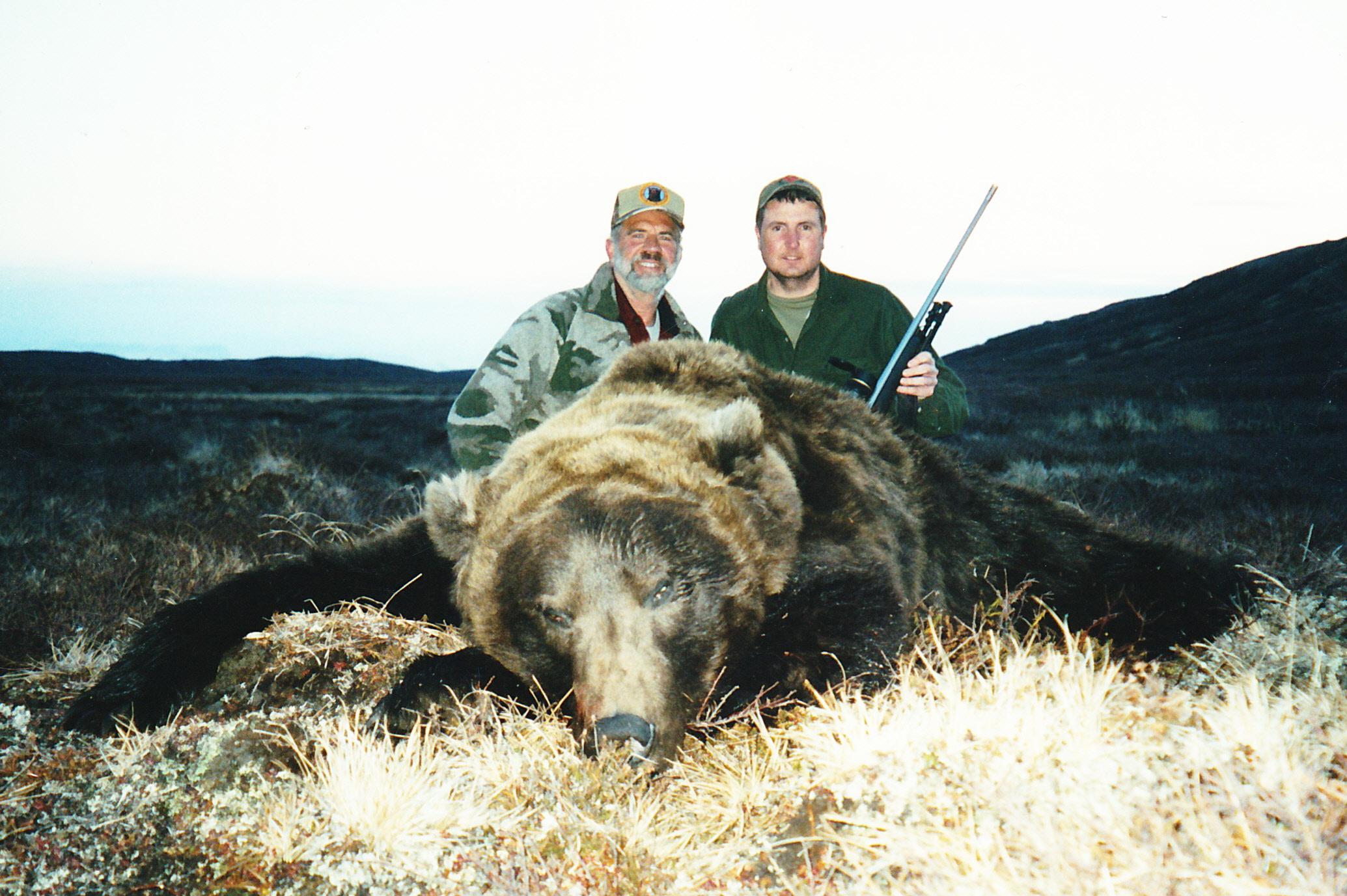 "Mack Hylton, Beaver, WV, and myself with his beautiful 9'6"" bear."