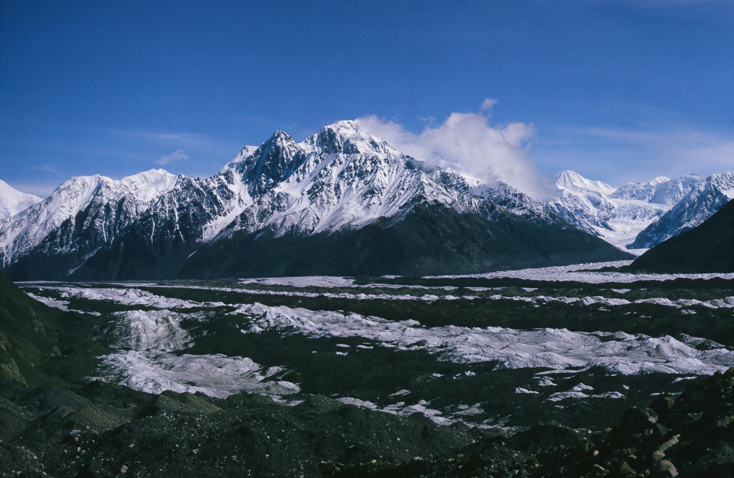 The majestic Wrangell Mountains in glacier country.