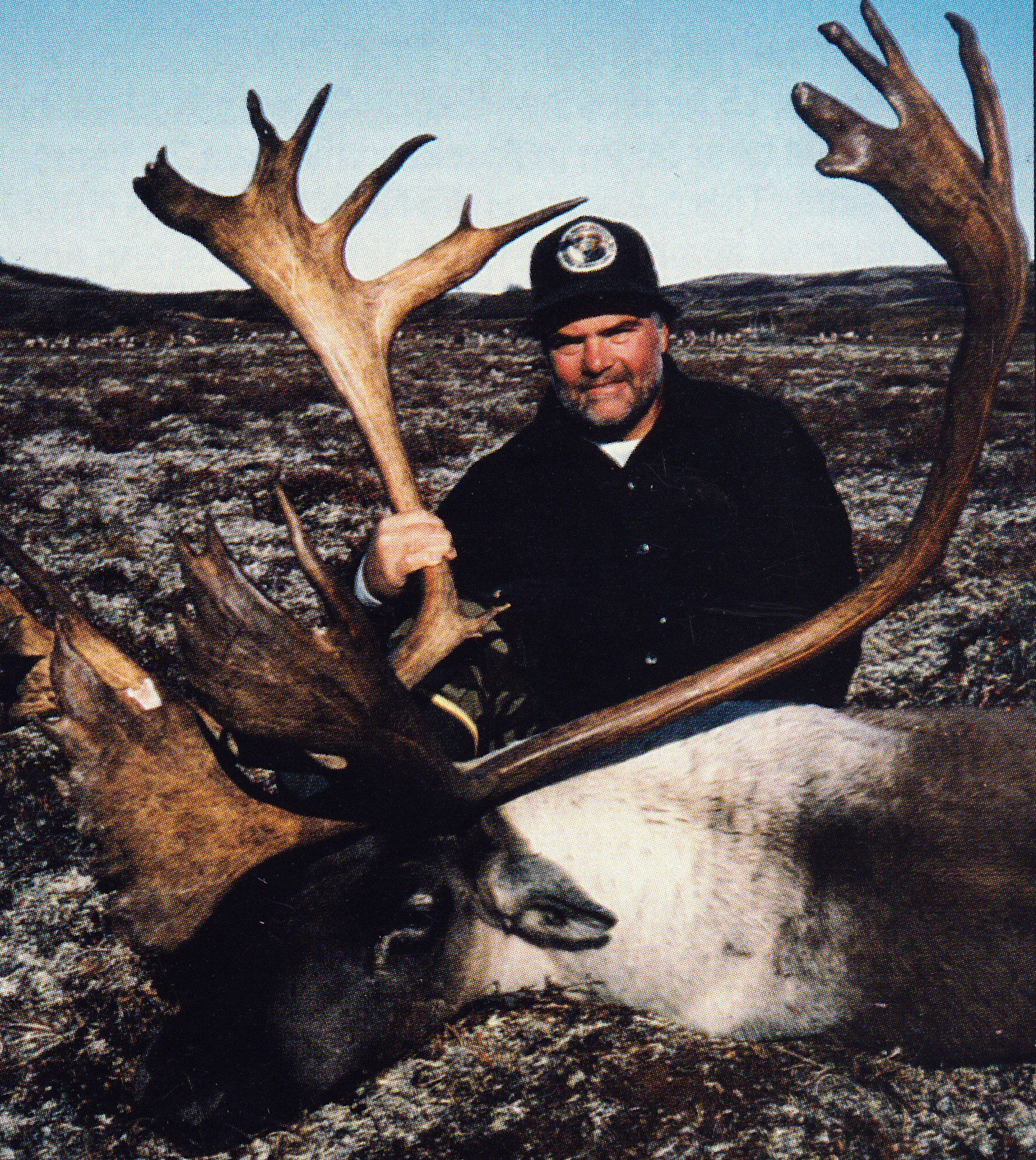 Jim Krapf of DE with his massive 407 3/8 B&C caribou. His guide was my partner Brent who had come up to Otter Lake after the moose season on the Alaskan Peninsula